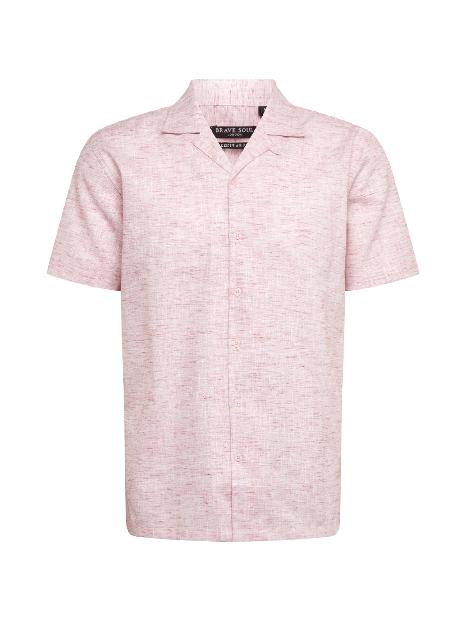 BRAVE SOUL Dalykiniai marškiniai šviesiai rožinė