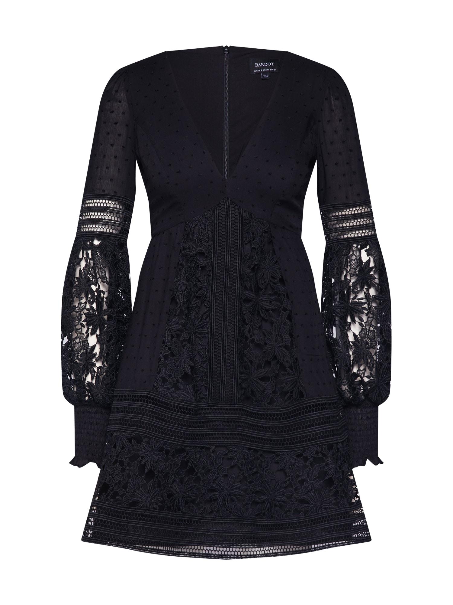 Šaty MARIAH SPLICED černá Bardot