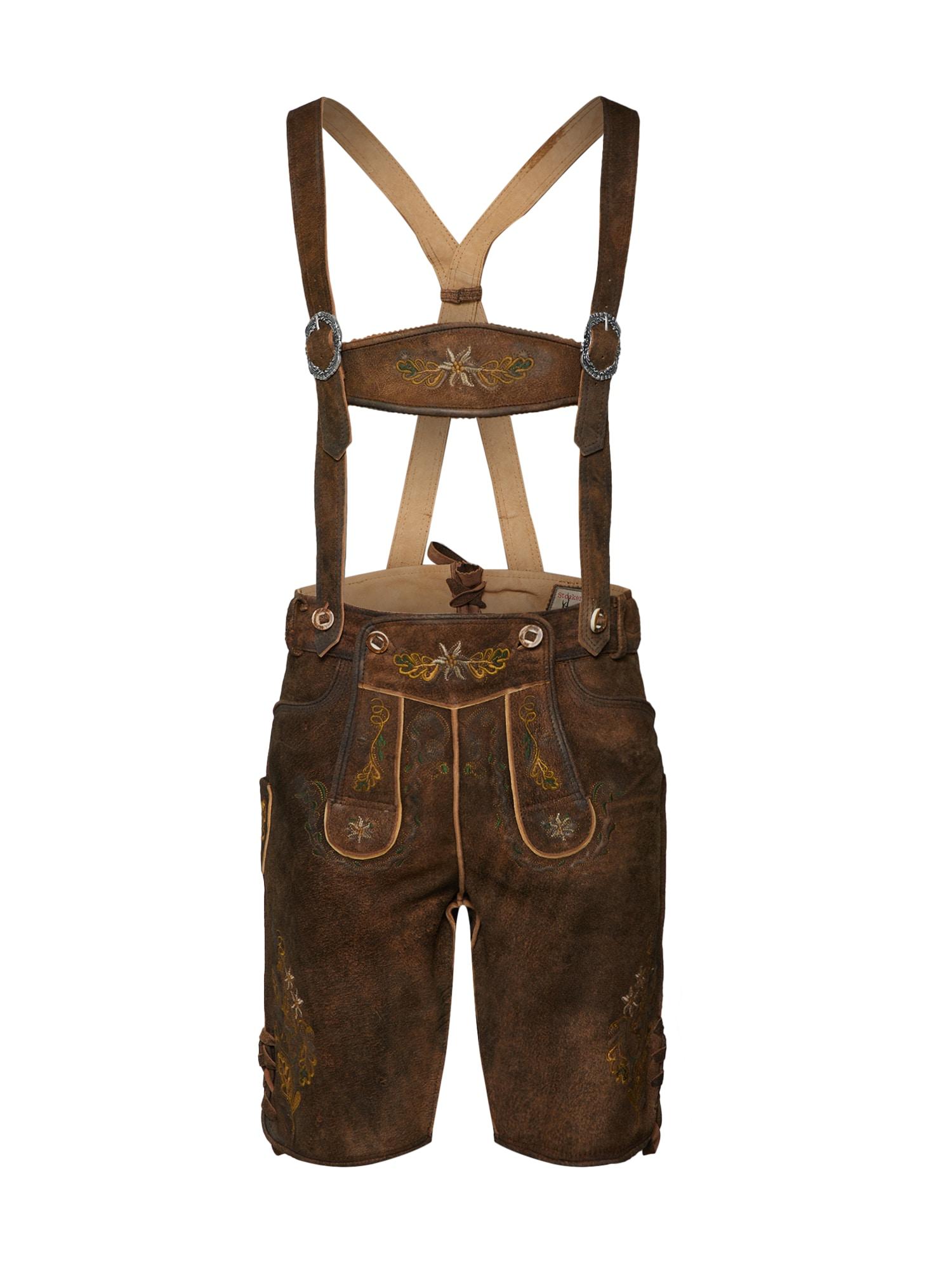 STOCKERPOINT Kelnės su tradiciniais raštais ruda