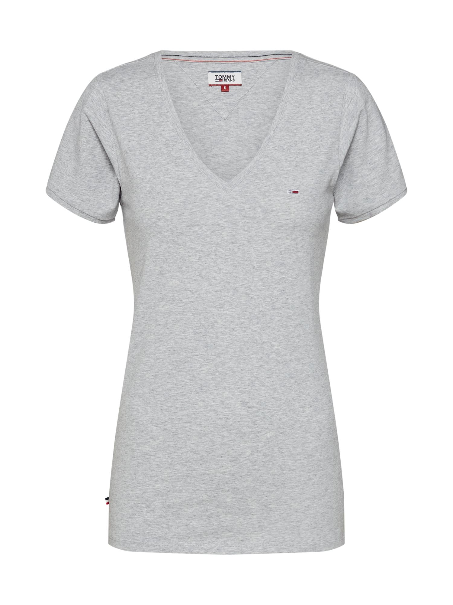 Tričko šedý melír Tommy Jeans