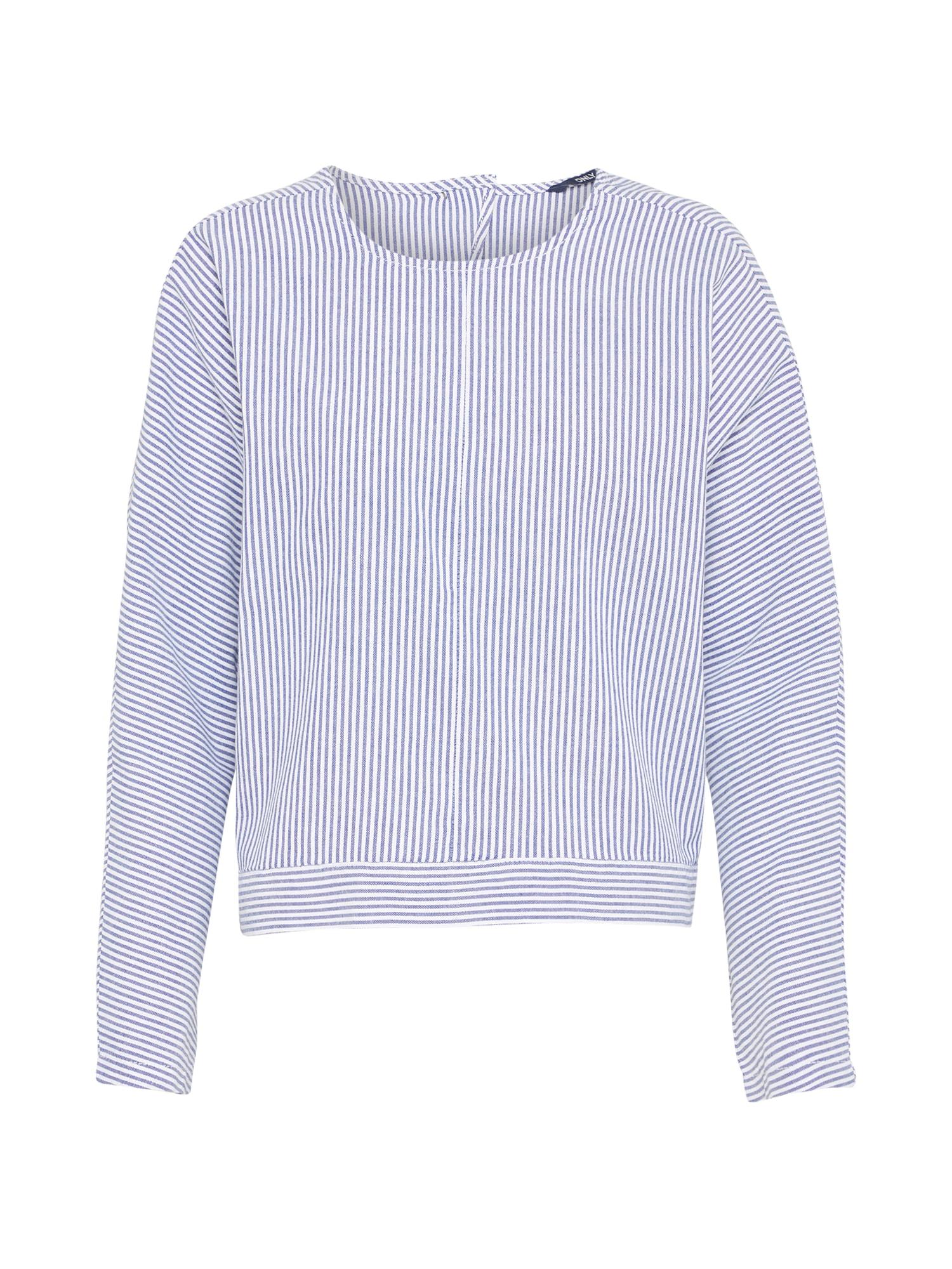 1de333624 dámské spodní prádlo Oblečení a doplňky. Halenka GAIA světlemodrá bílá ONLY