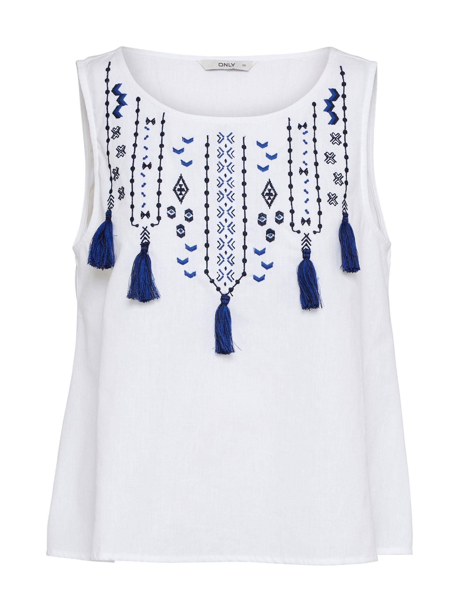 Top SALLY modrá bílá ONLY