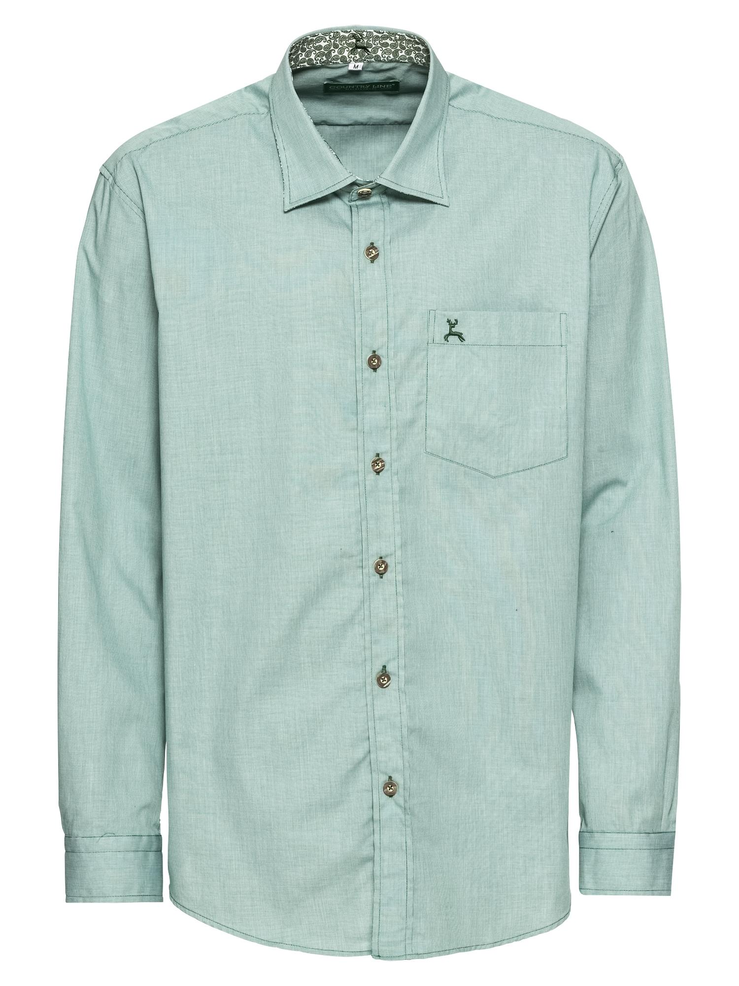 COUNTRY LINE Tradiciniai marškiniai nefrito spalva
