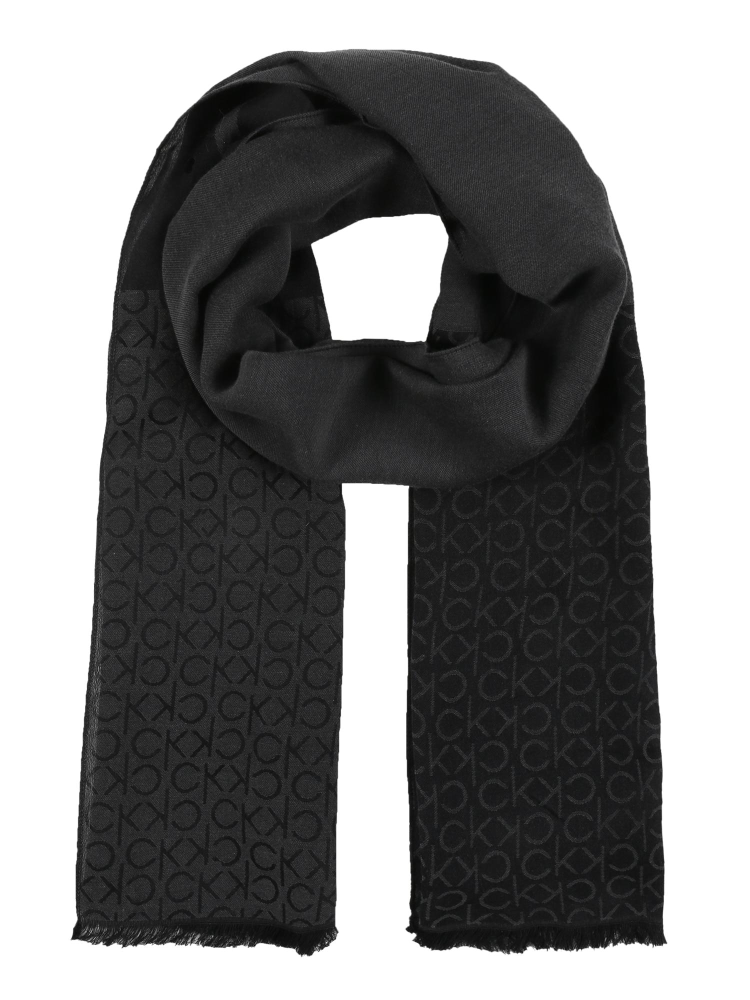 Calvin Klein Šalikas 'MONO BLEND' juoda