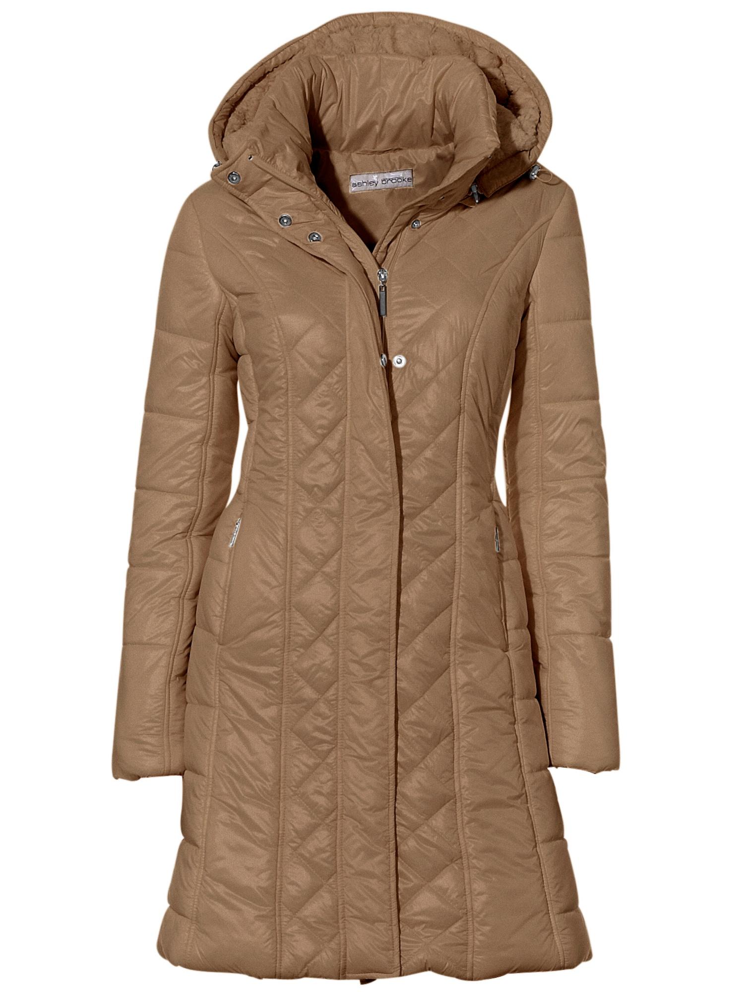 Zimní kabát nažloutlá písková světle hnědá Heine