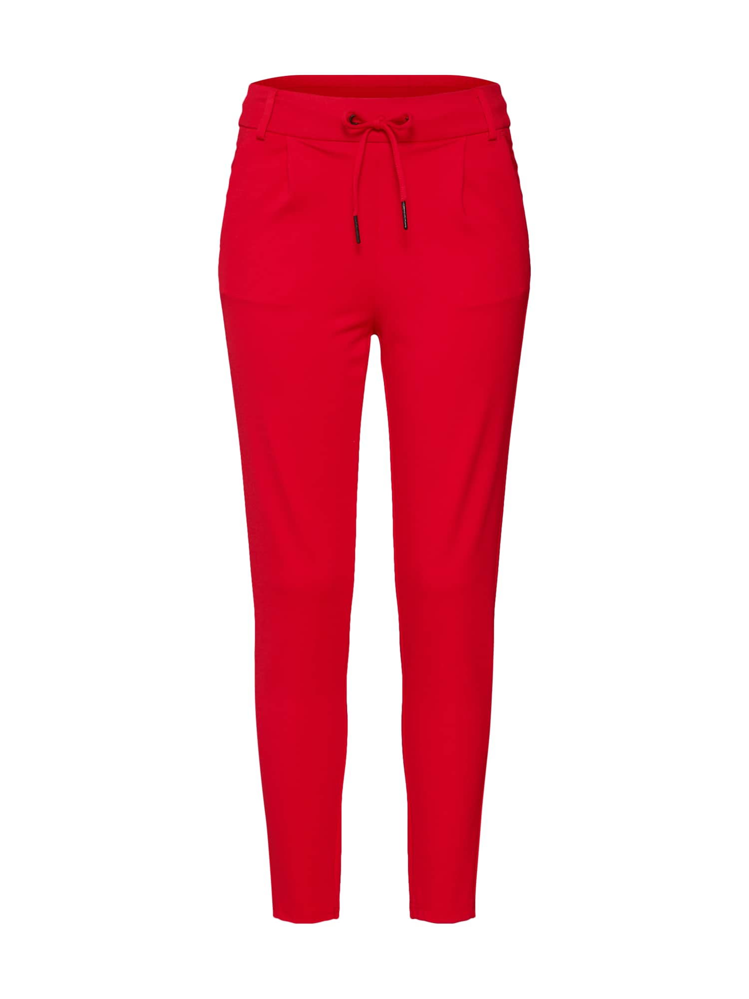 Kalhoty se sklady v pase POWER červená Noisy May