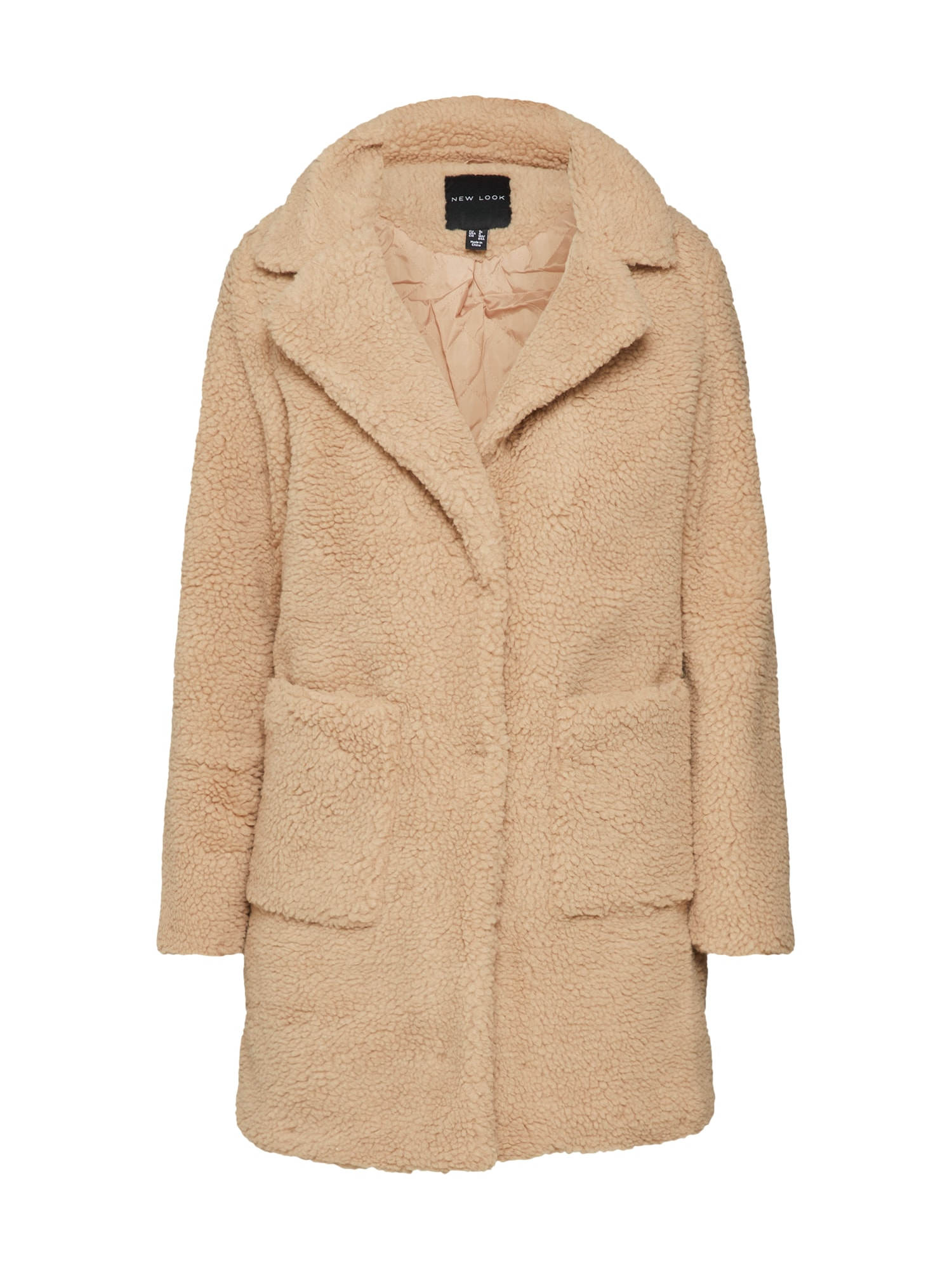 Přechodný kabát TEDDY béžová NEW LOOK
