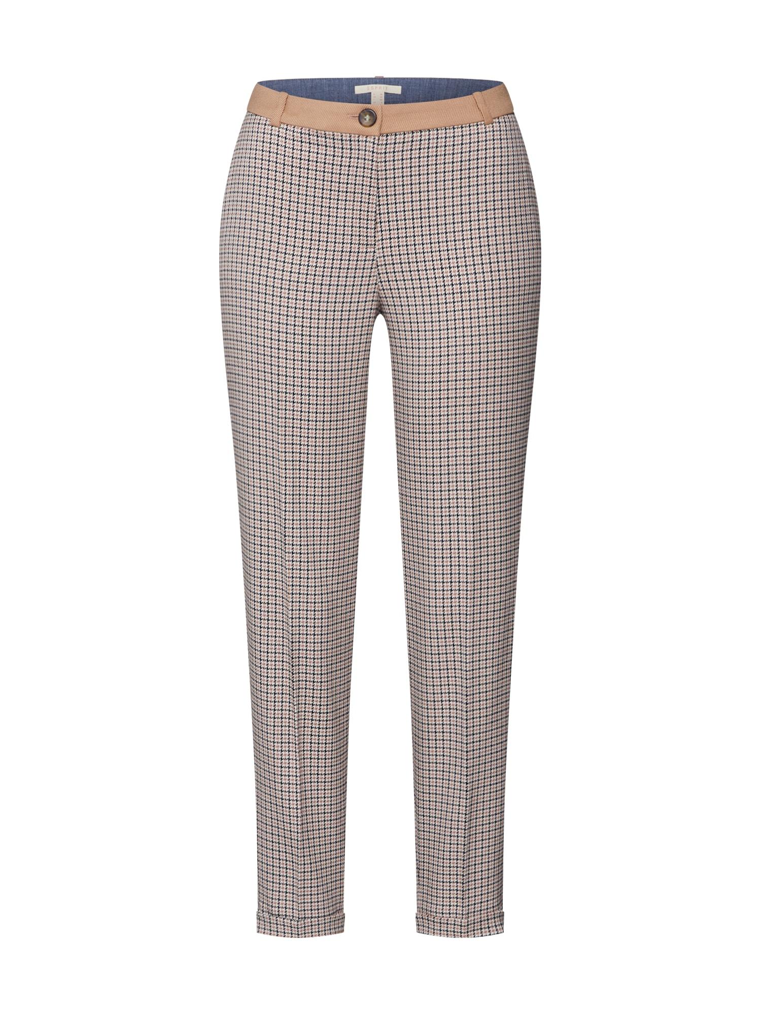 ESPRIT Chino kalhoty  světle hnědá