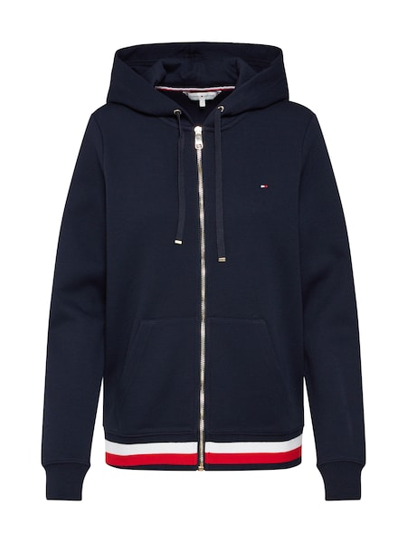 Jacken - Sweatjacke 'HERITAGE ZIP THROUGH' › Tommy Hilfiger › dunkelblau  - Onlineshop ABOUT YOU