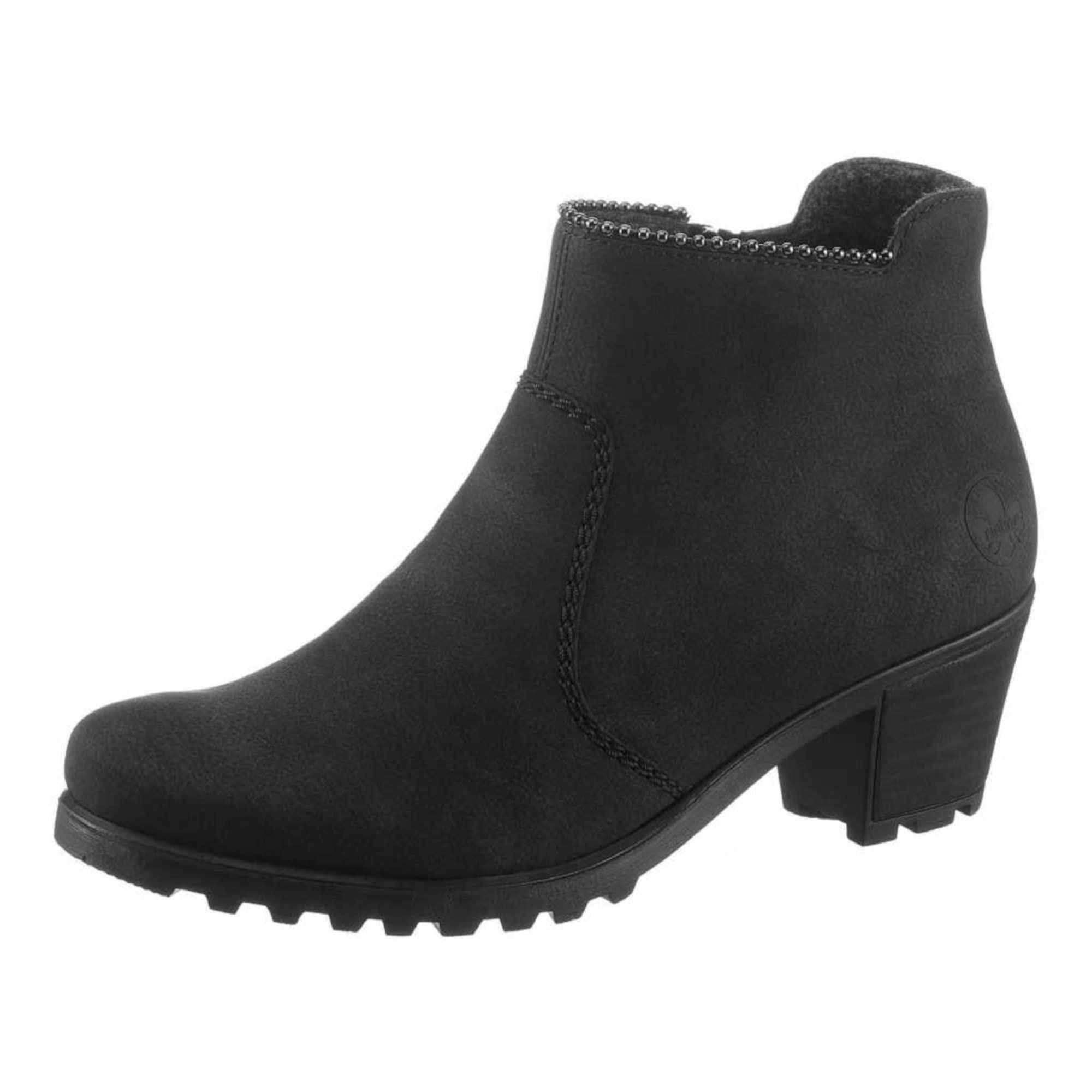 RIEKER Kulkšnis dengiantys batai juoda