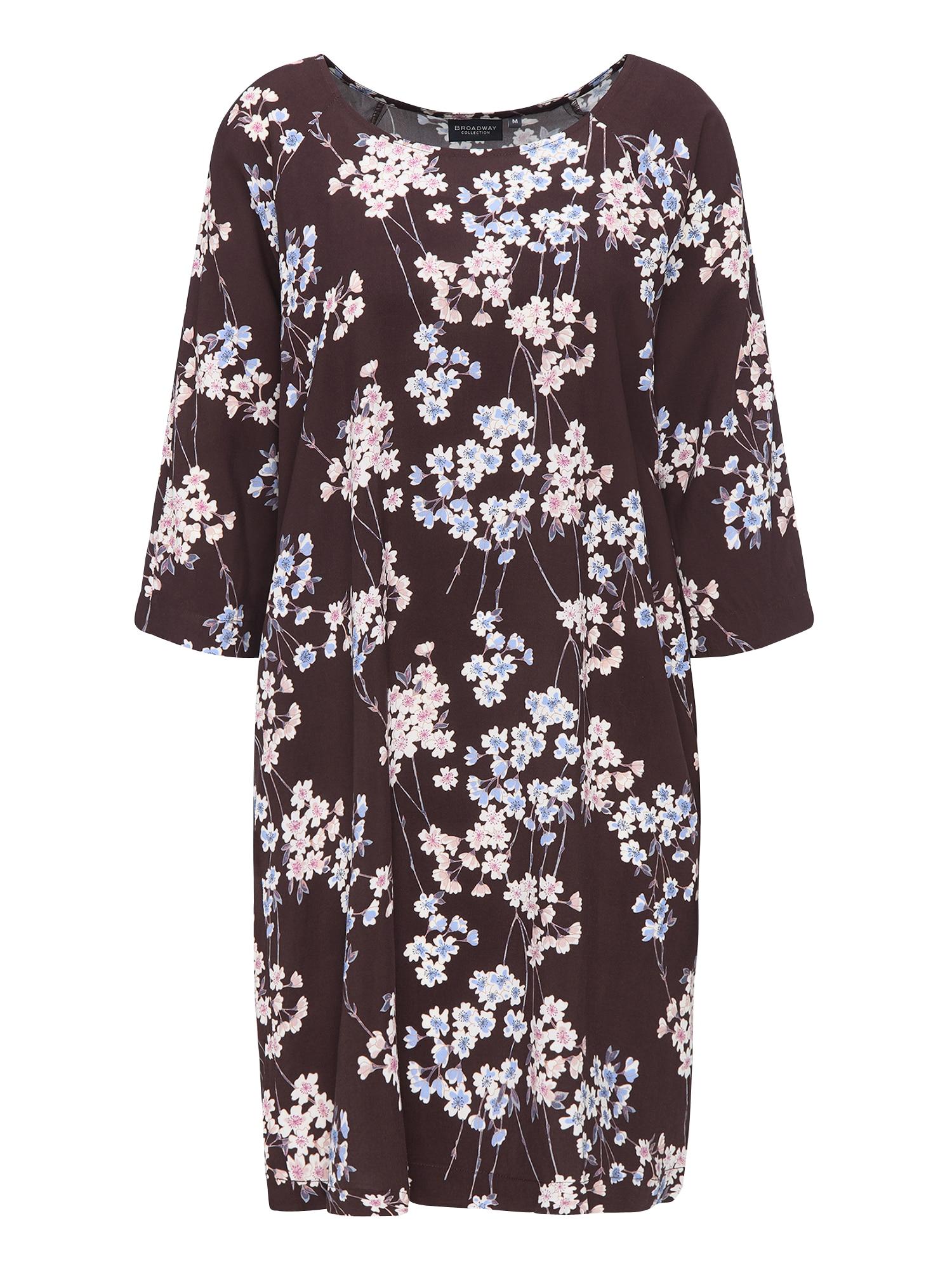 Šaty OONA hnědá mix barev BROADWAY NYC FASHION
