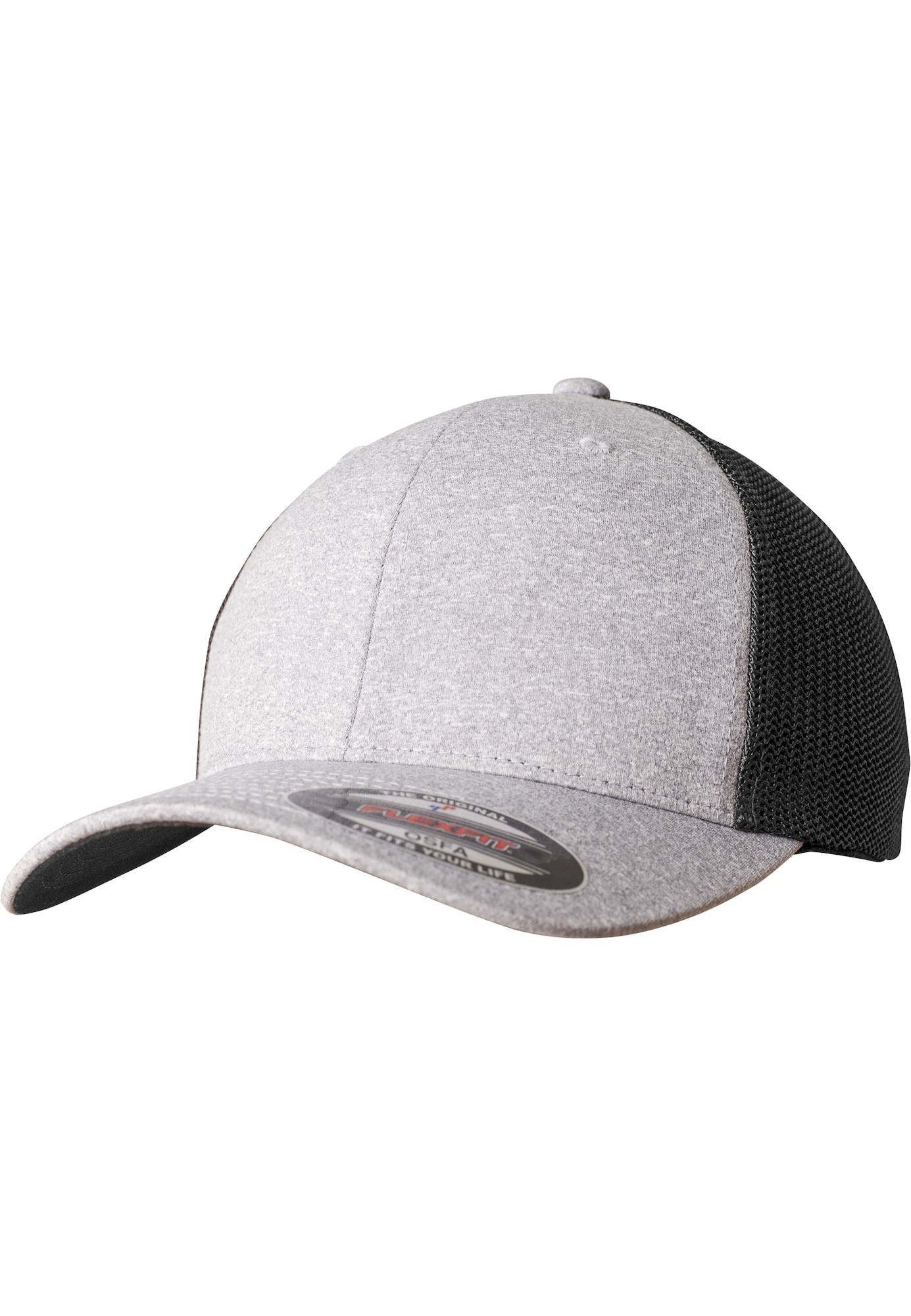 Flexfit Kepurė margai pilka / juoda