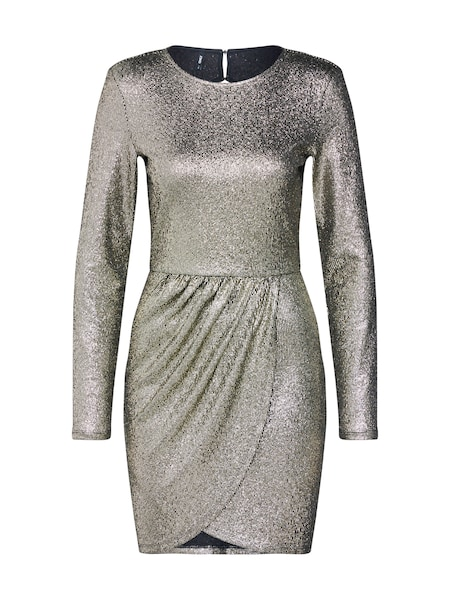 Festtagsmode - Kleid 'ALESSA' › ONLY › gold schwarz  - Onlineshop ABOUT YOU