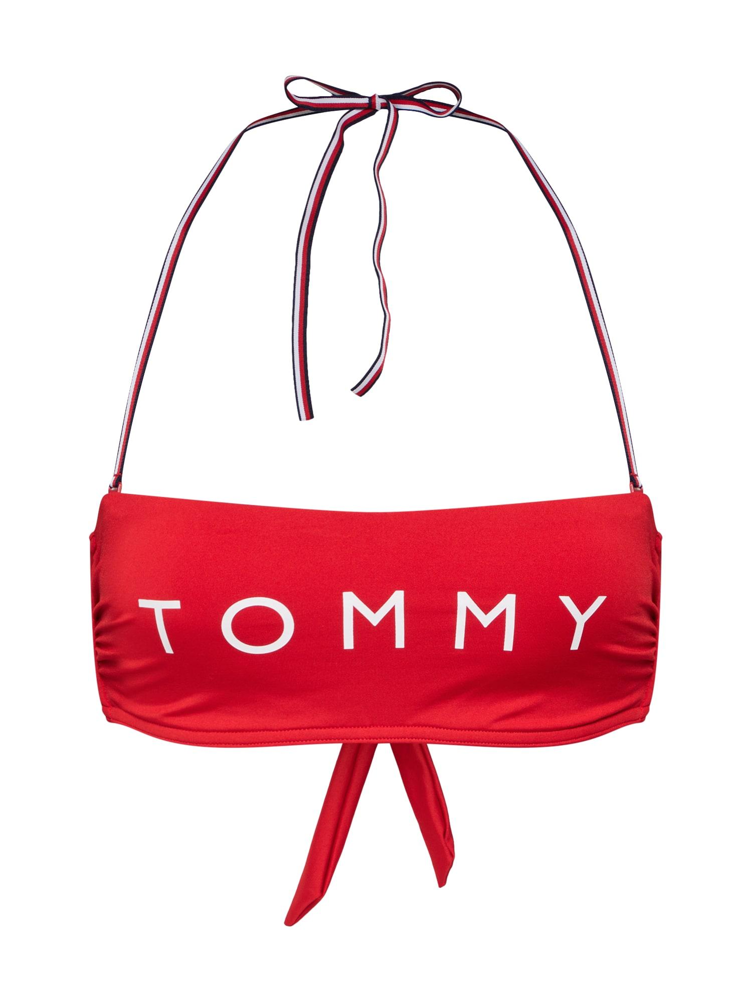 Horní díl plavek červená bílá Tommy Hilfiger Underwear