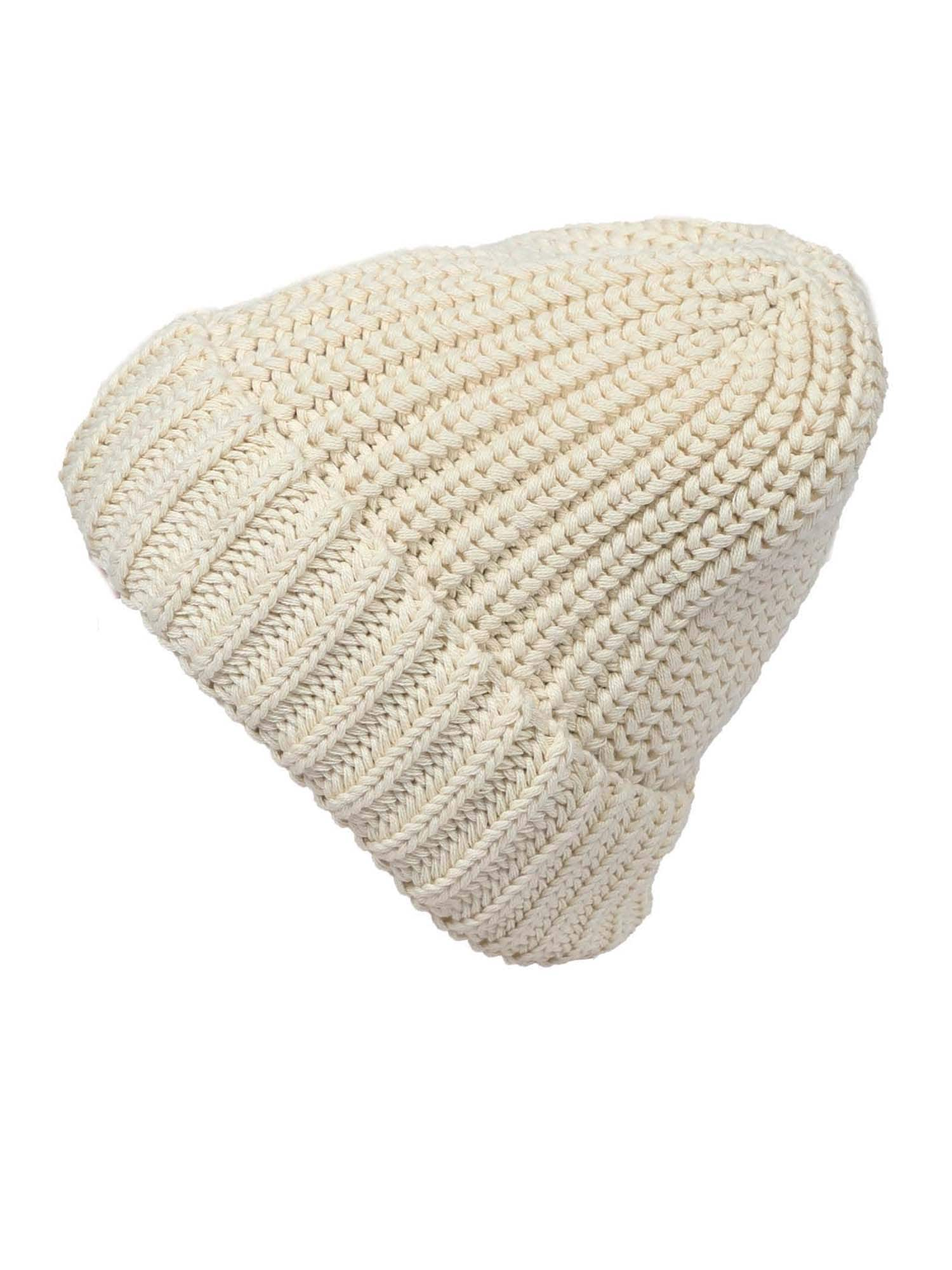ABOUT YOU Megzta kepurė 'Juliane' balkšva