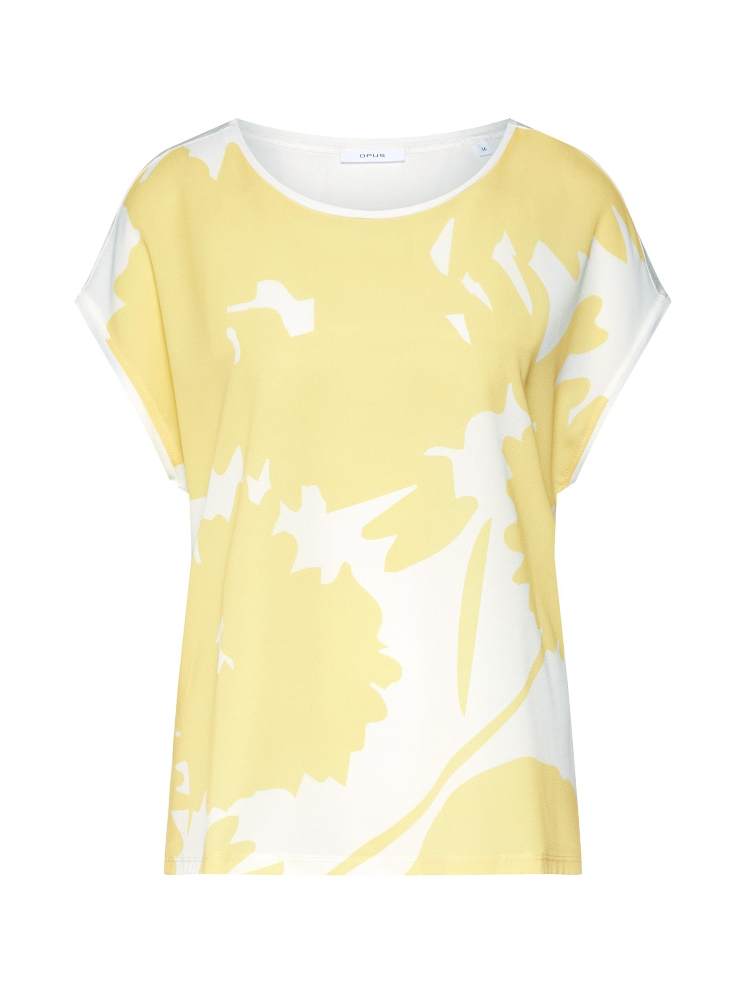 Tričko béžová žlutá OPUS
