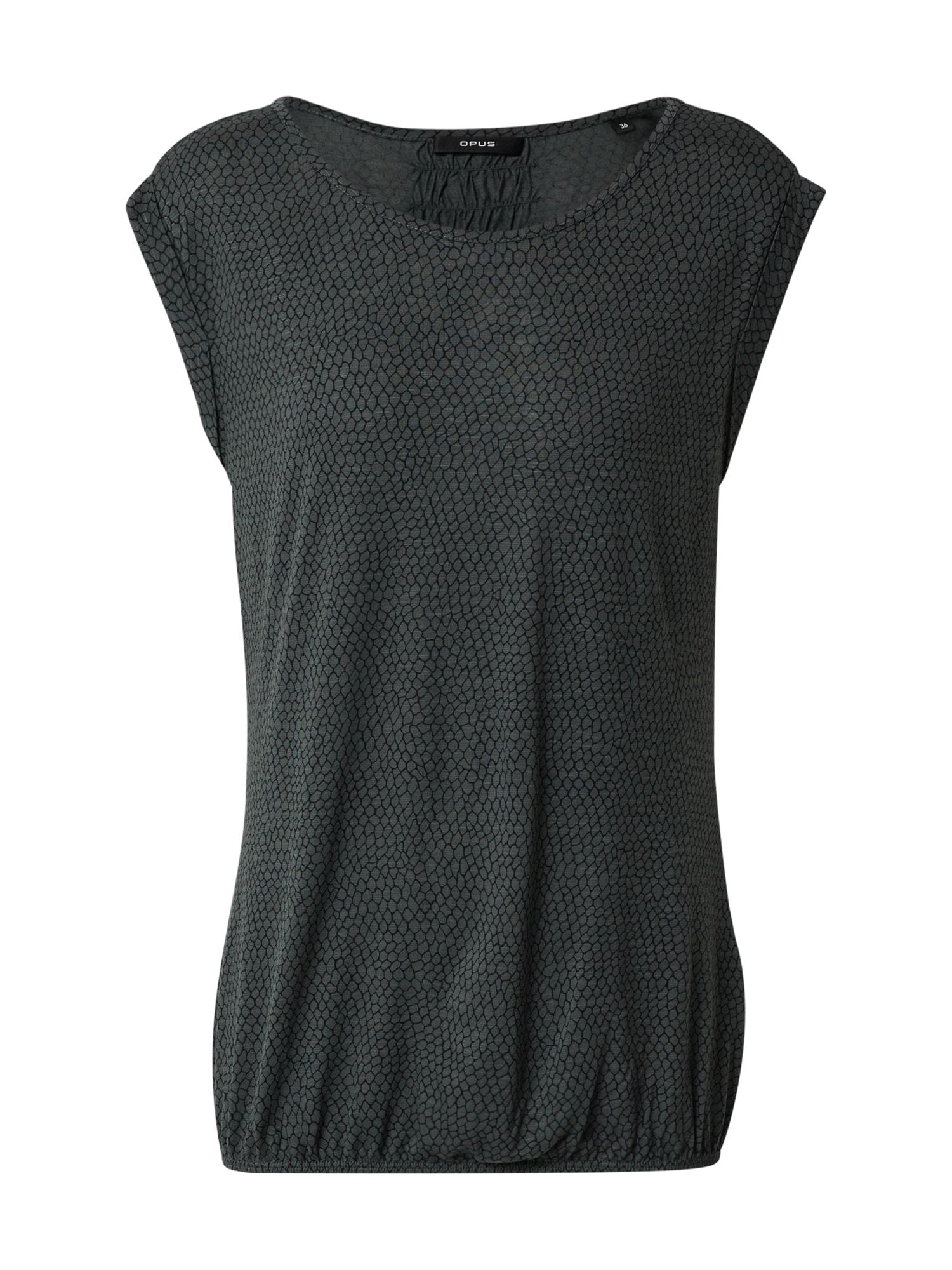 OPUS Tričko  tmavozelená
