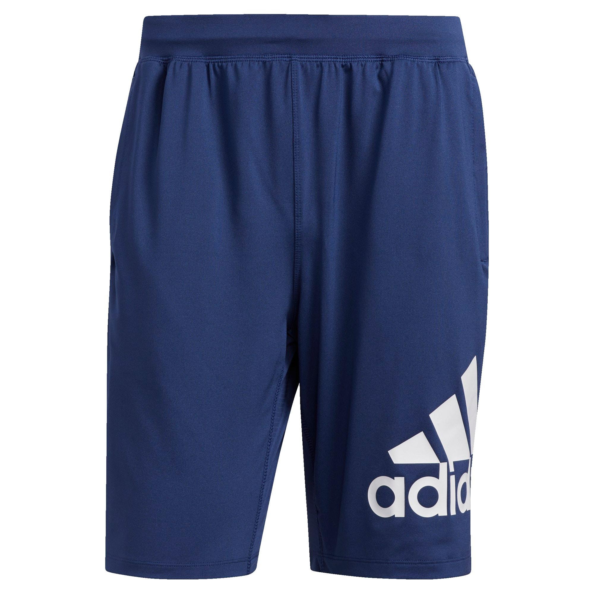 ADIDAS PERFORMANCE Športové nohavice  biela / modrá