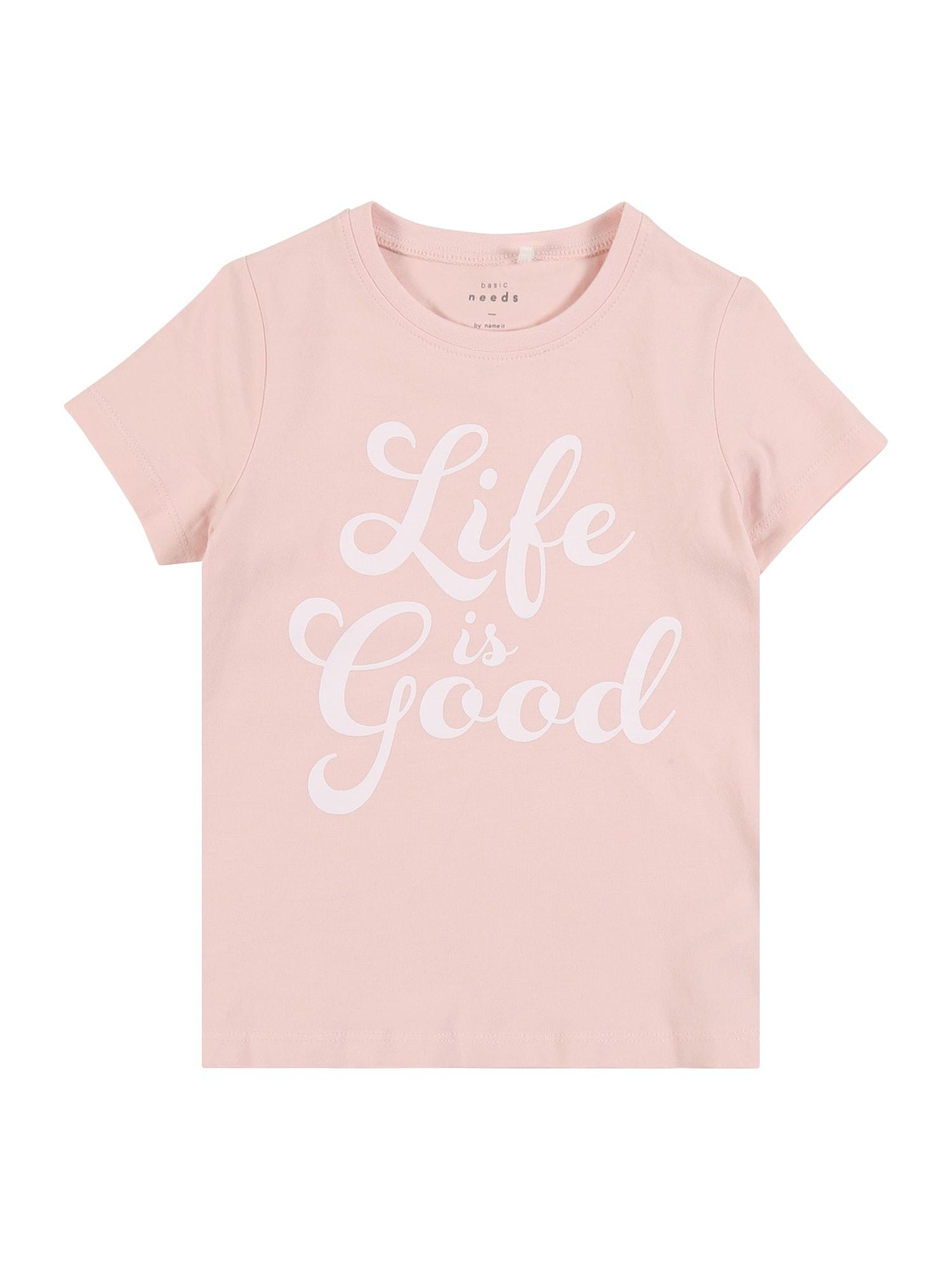 NAME IT Marškinėliai 'LEA' rožių spalva