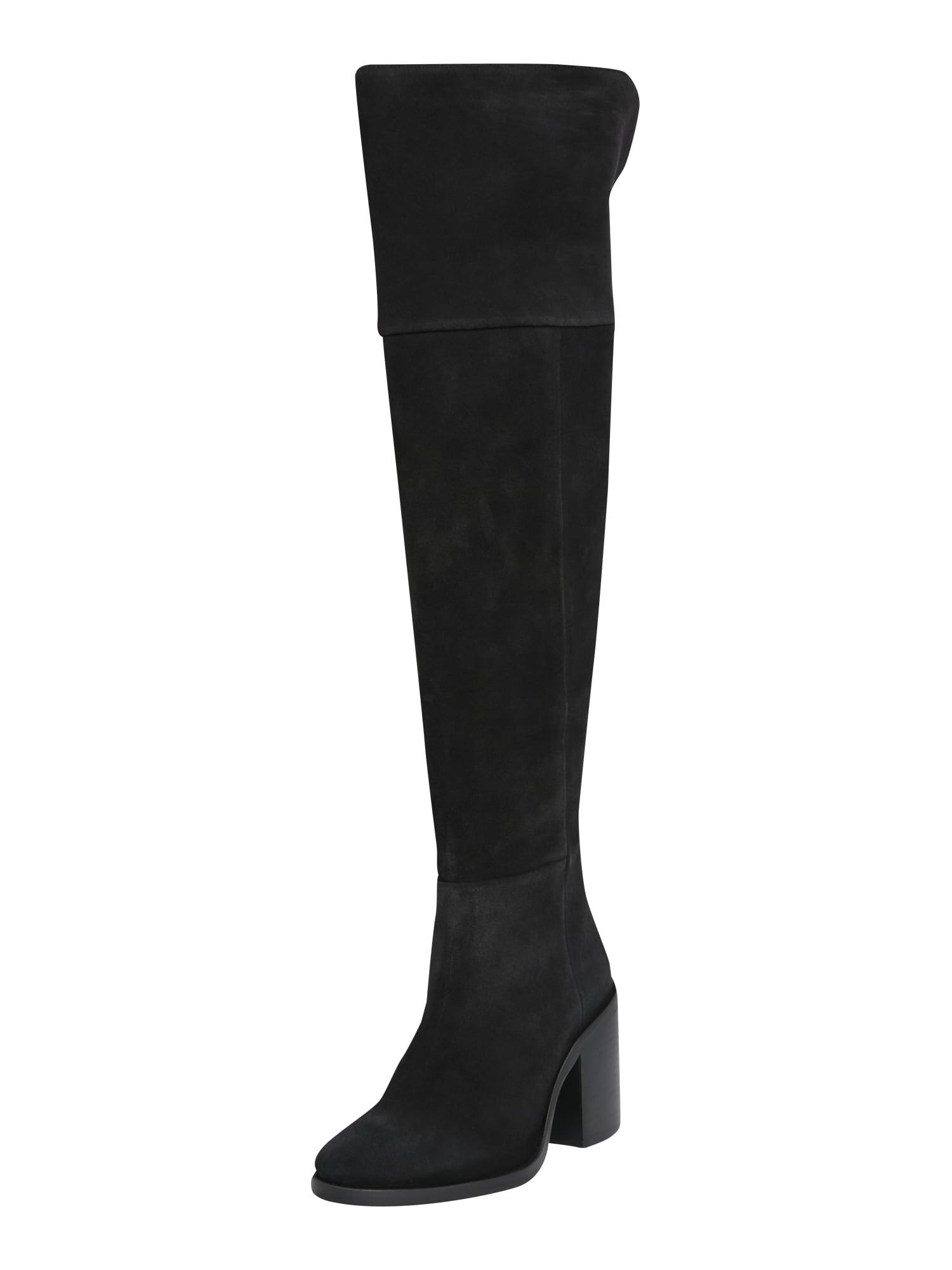 TOMMY HILFIGER Ilgaauliai batai virš kelių juoda