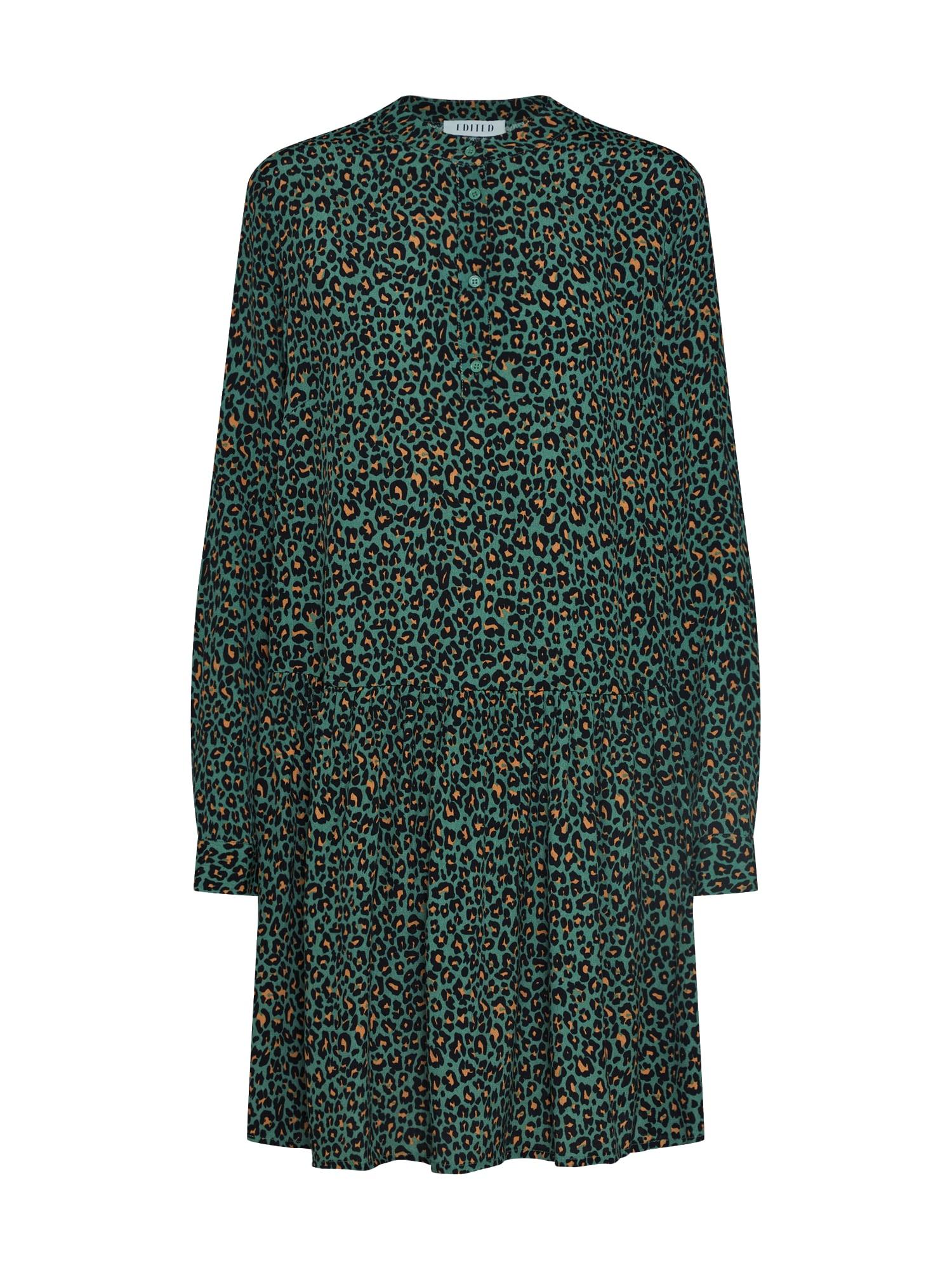 EDITED Košeľové šaty 'Elodie'  zelená