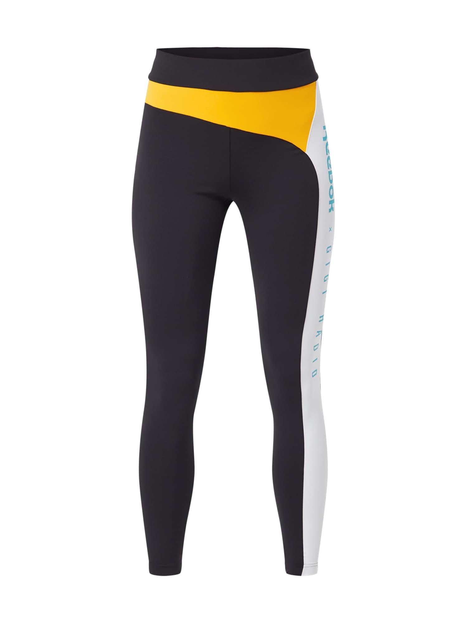 Legíny Gigi Legging tyrkysová žlutá černá bílá Reebok Classic