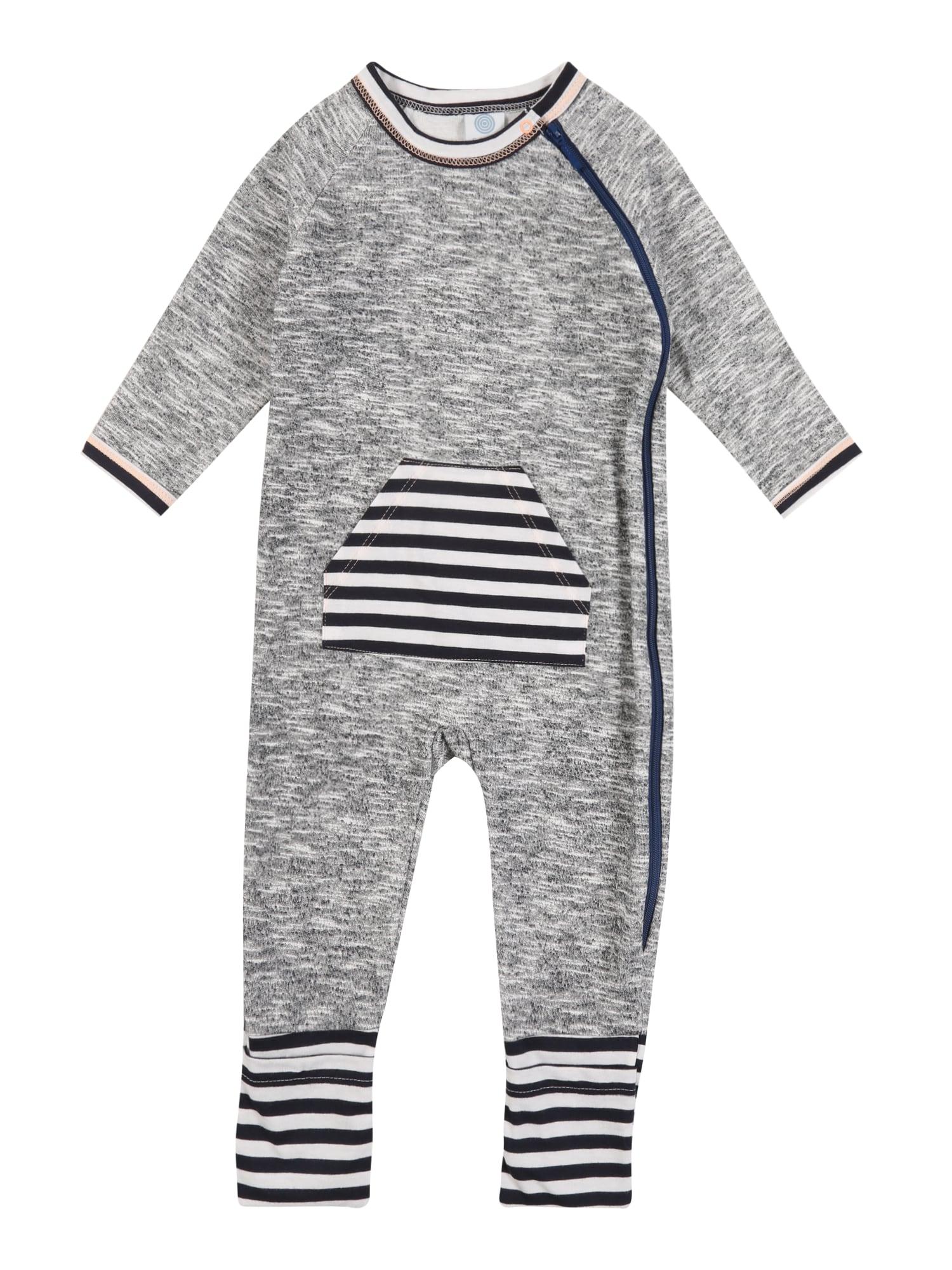 SANETTA Miego kostiumas mėlyna / pilka