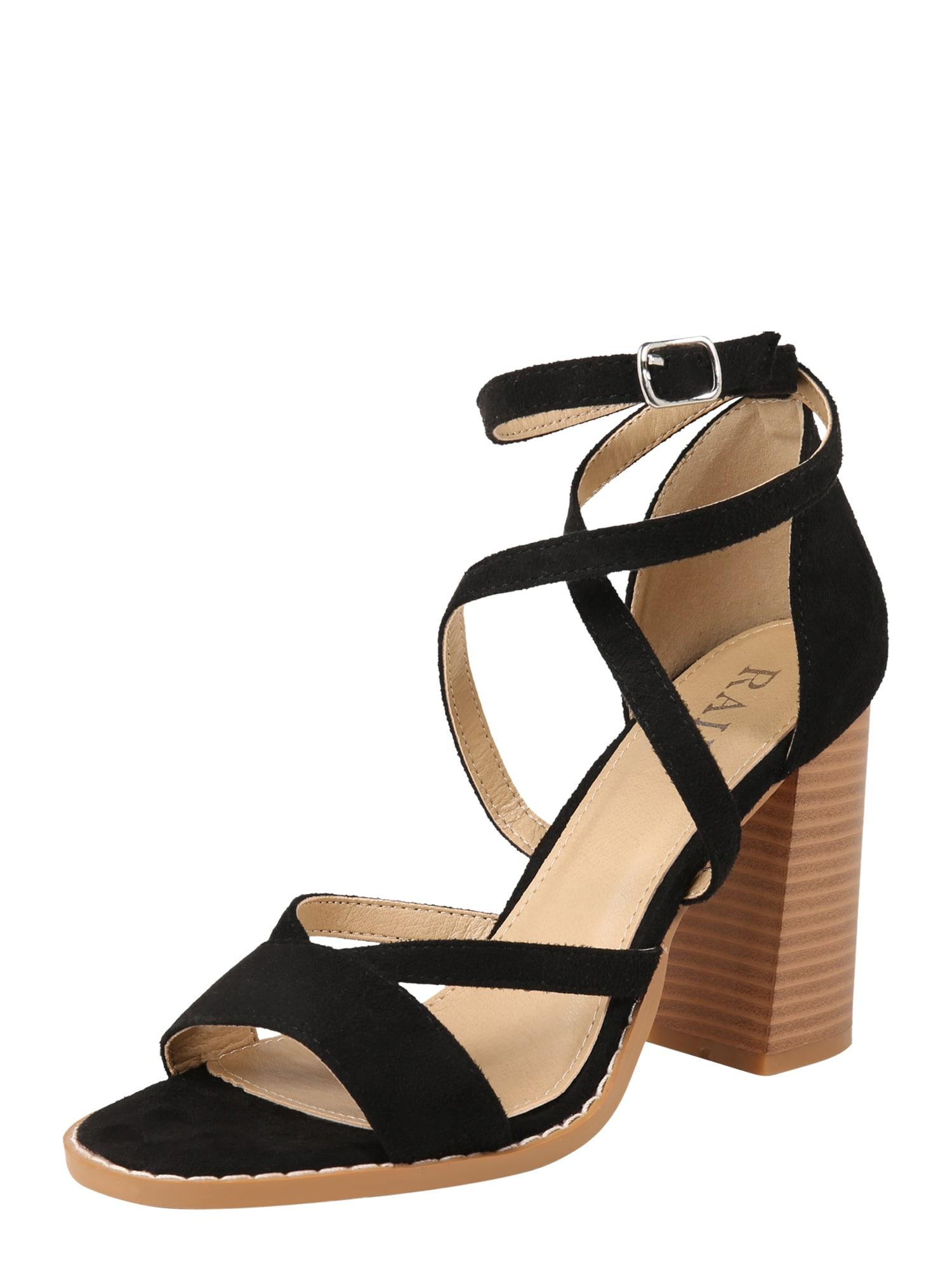 Páskové sandály ESTRELLE-1 černá Raid