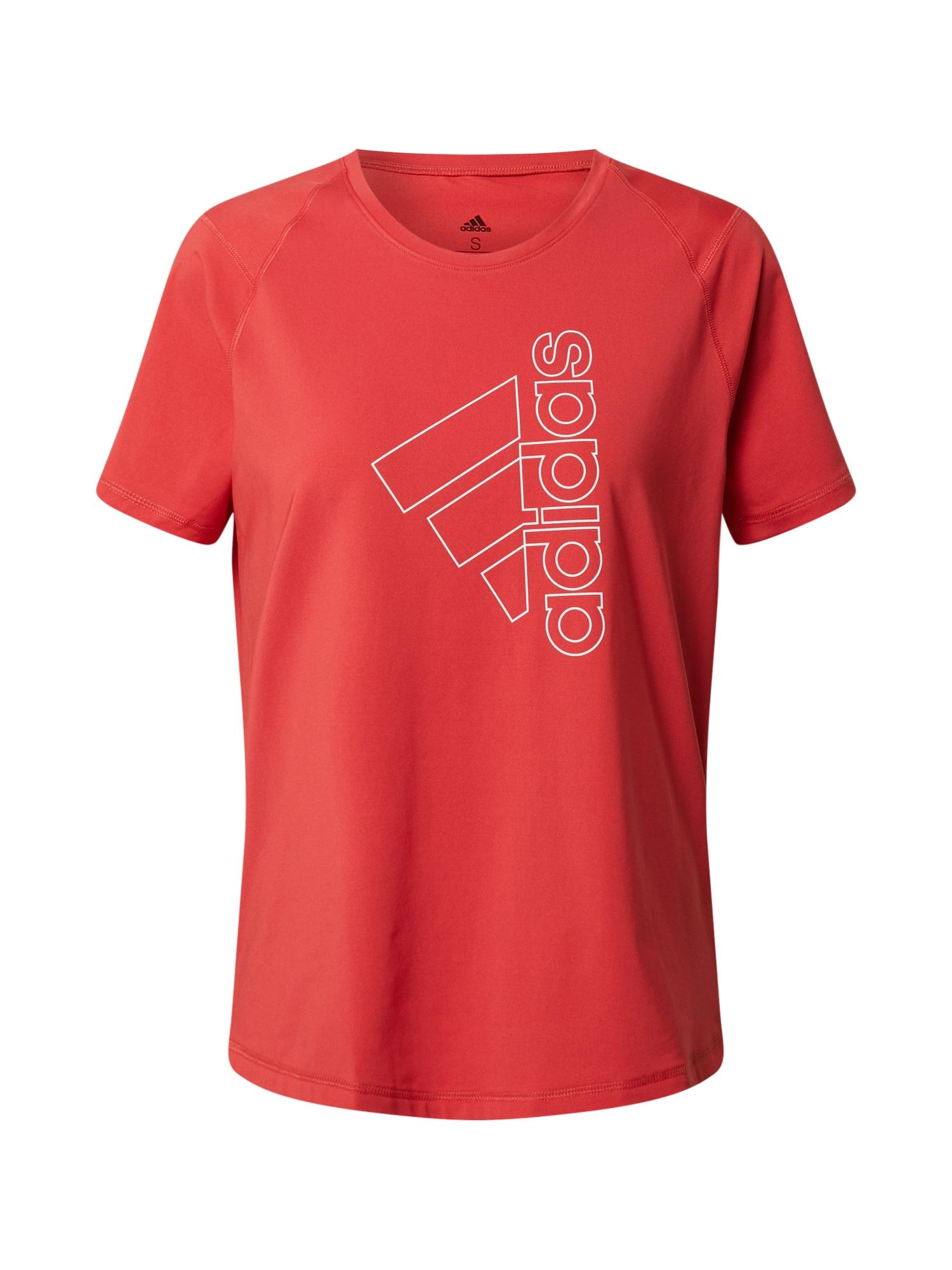 ADIDAS PERFORMANCE Sportiniai marškinėliai raudona