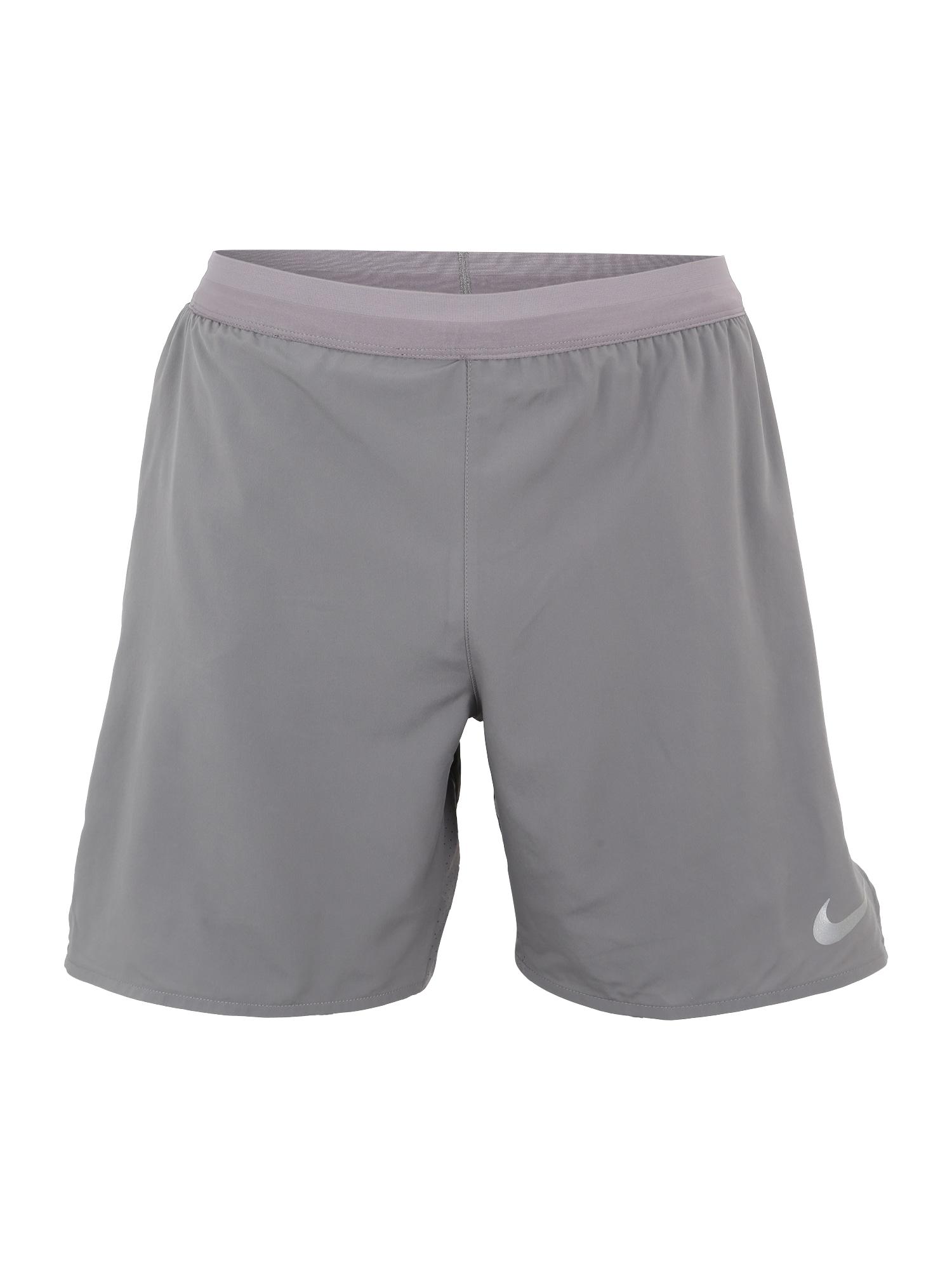 Sportovní kalhoty FLEX DISTANCE šedá NIKE