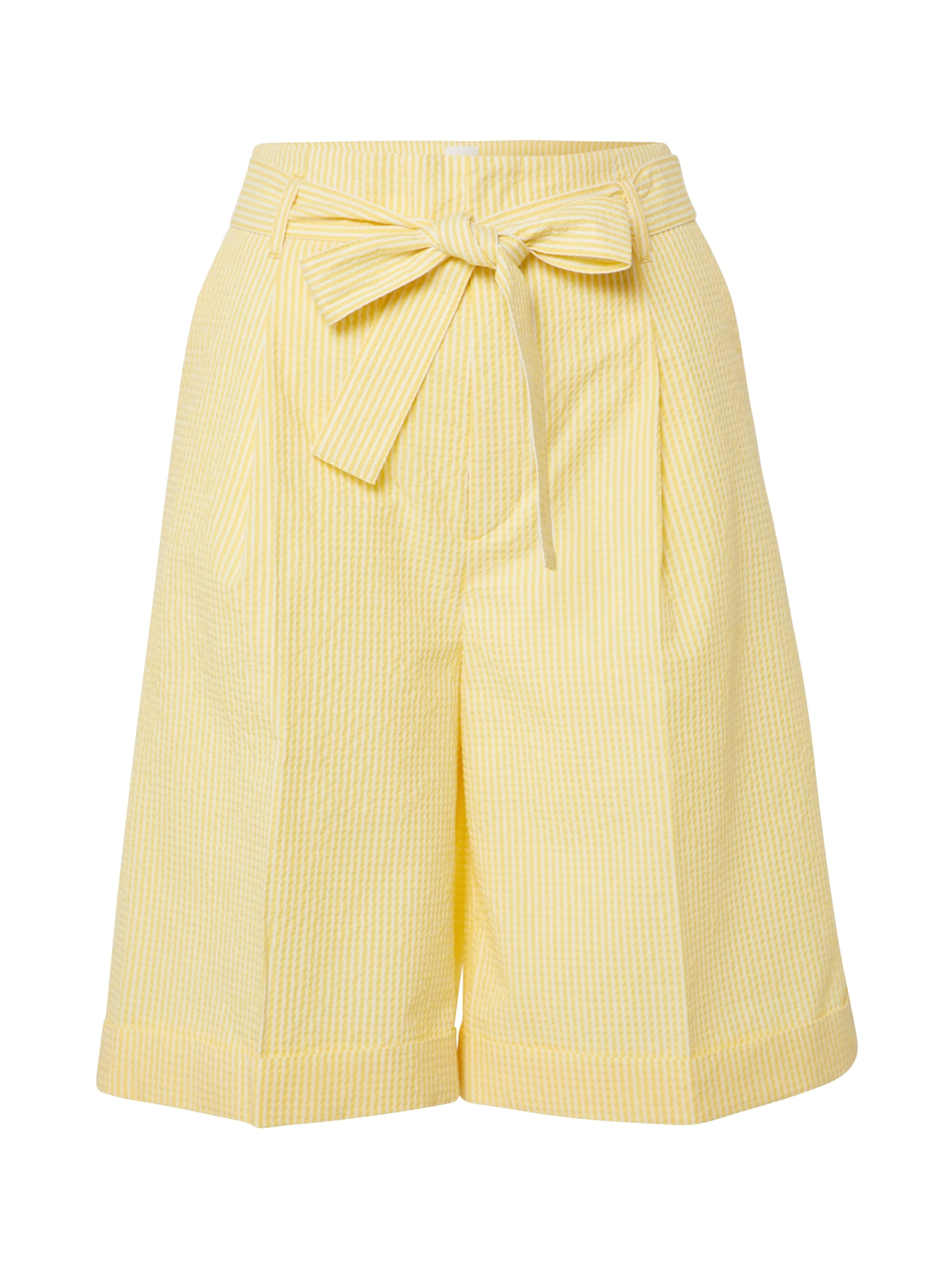 BOSS Kelnės 'Sarlie' geltona / balta