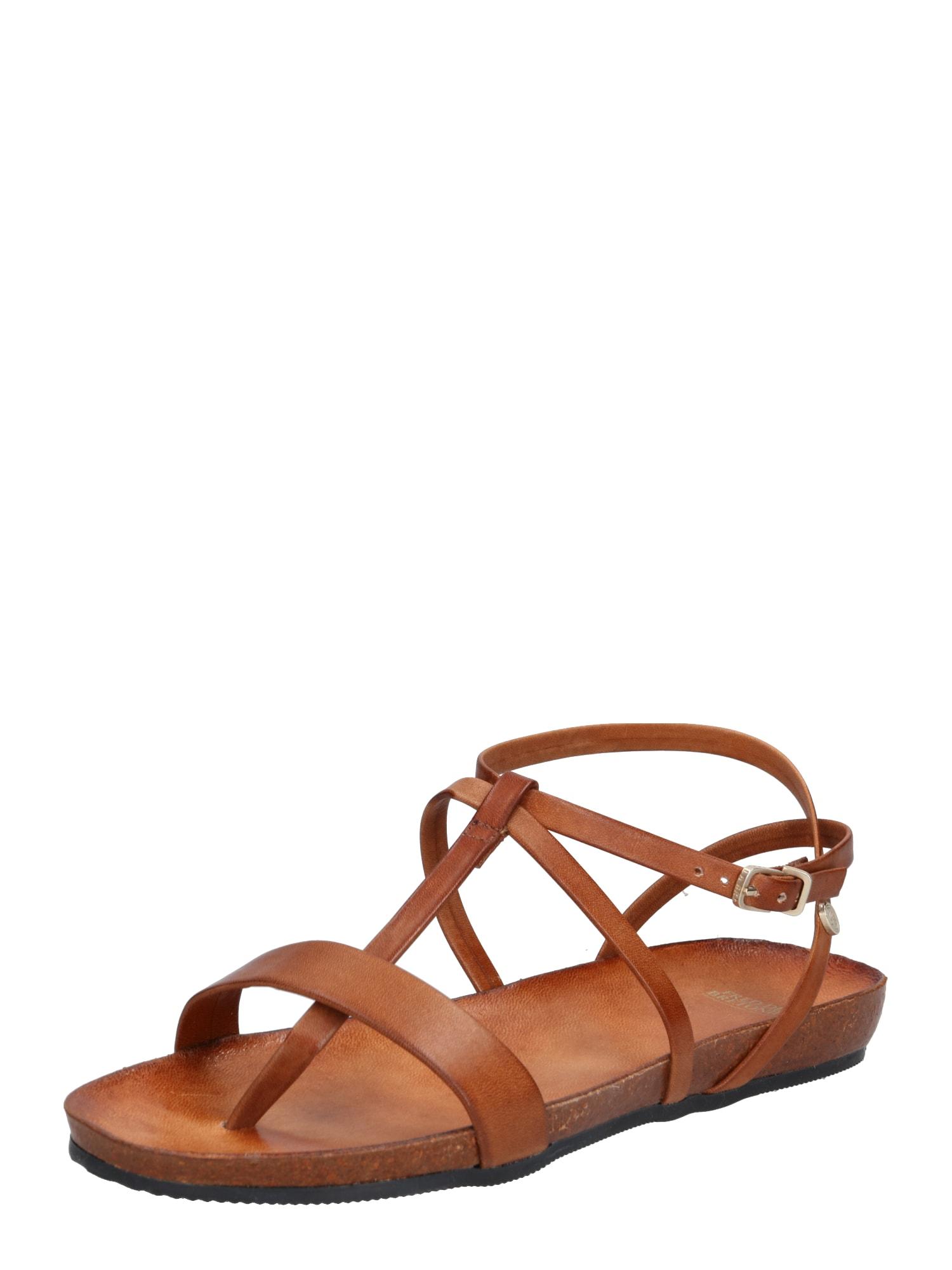Sandály světle hnědá Fred De La BretoniÈre