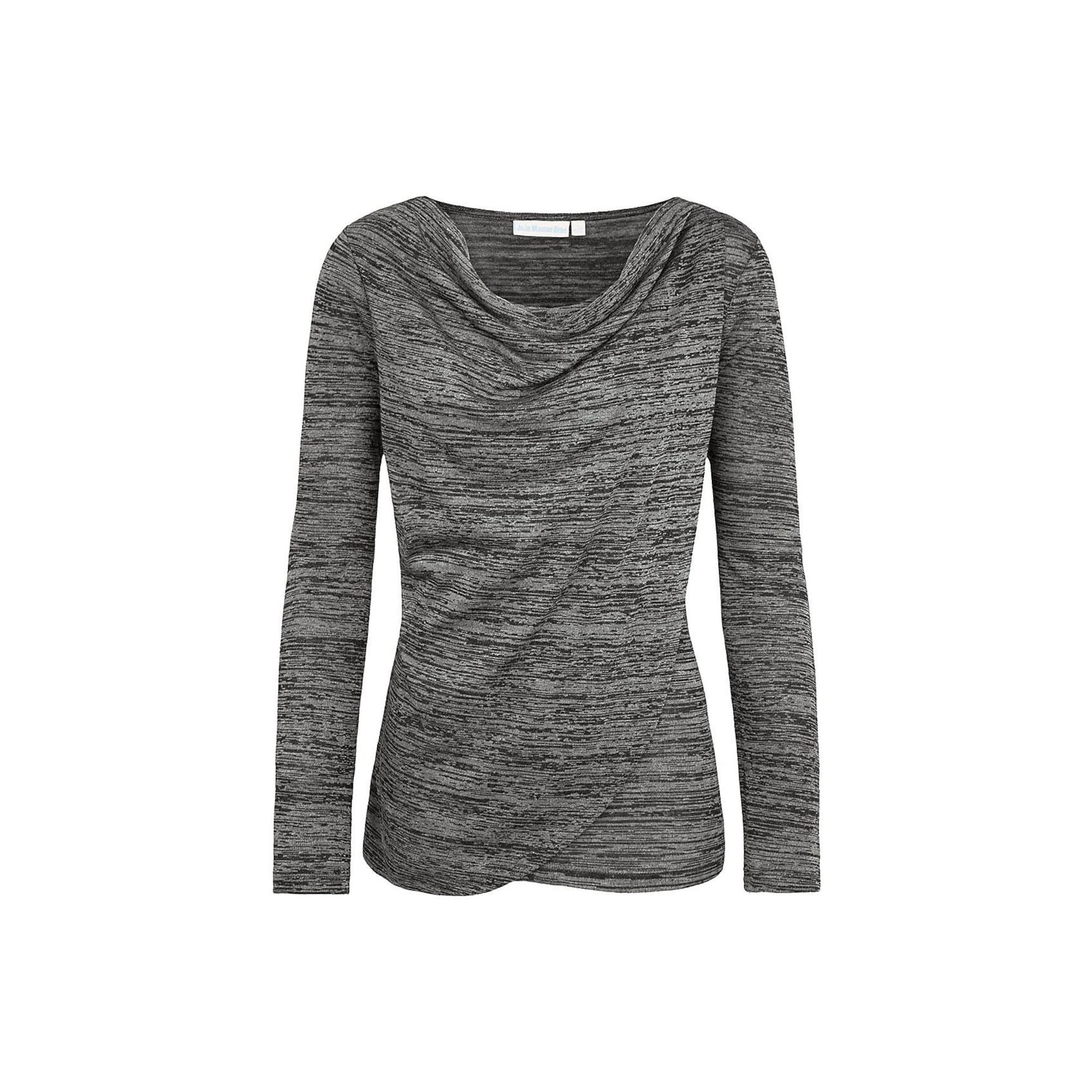 JoJo Maman Bébé Marškinėliai margai pilka / tamsiai pilka