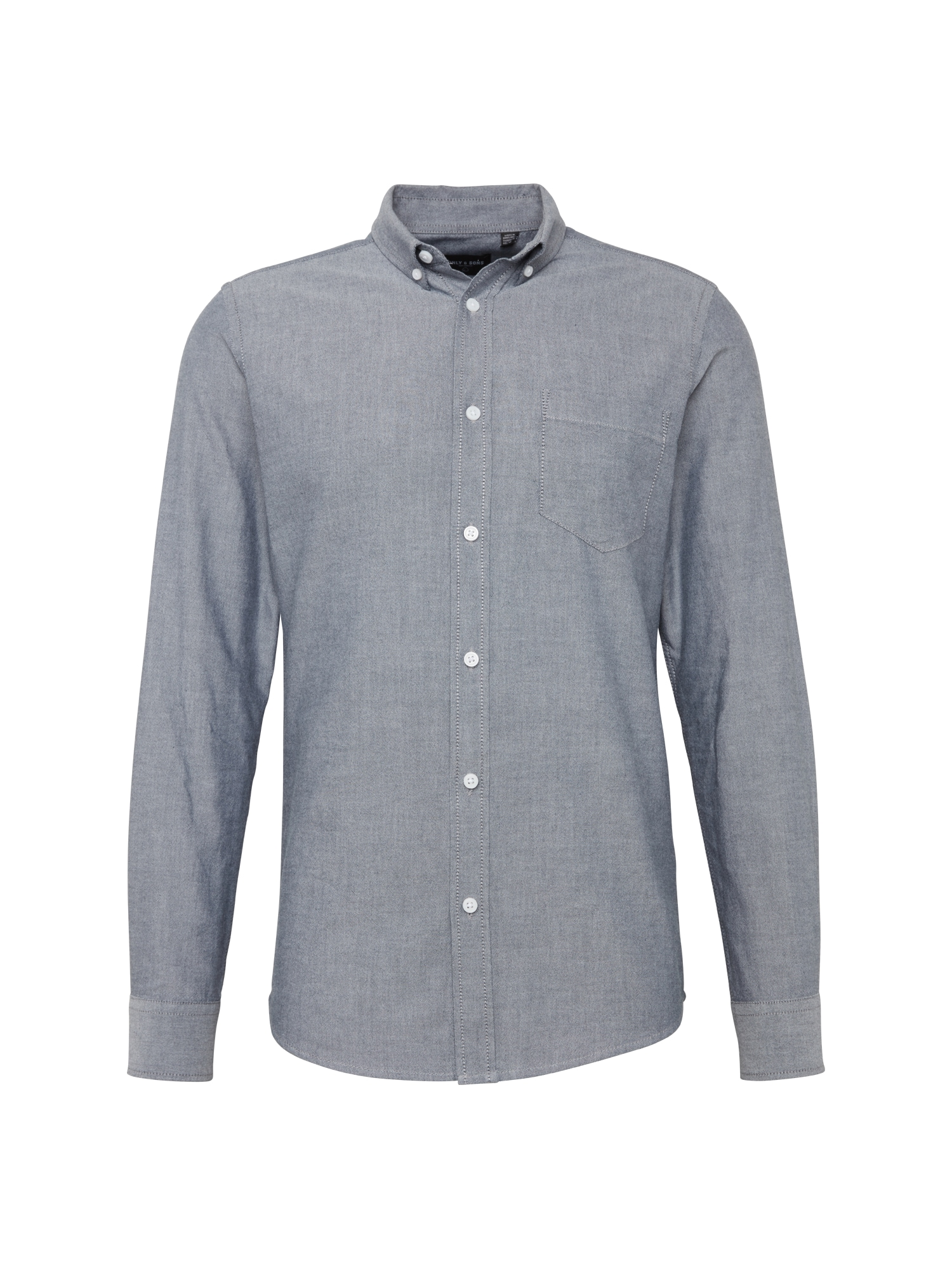 Košile ALVARO LS OXFORD SHIRT NOOS šedá Only & Sons