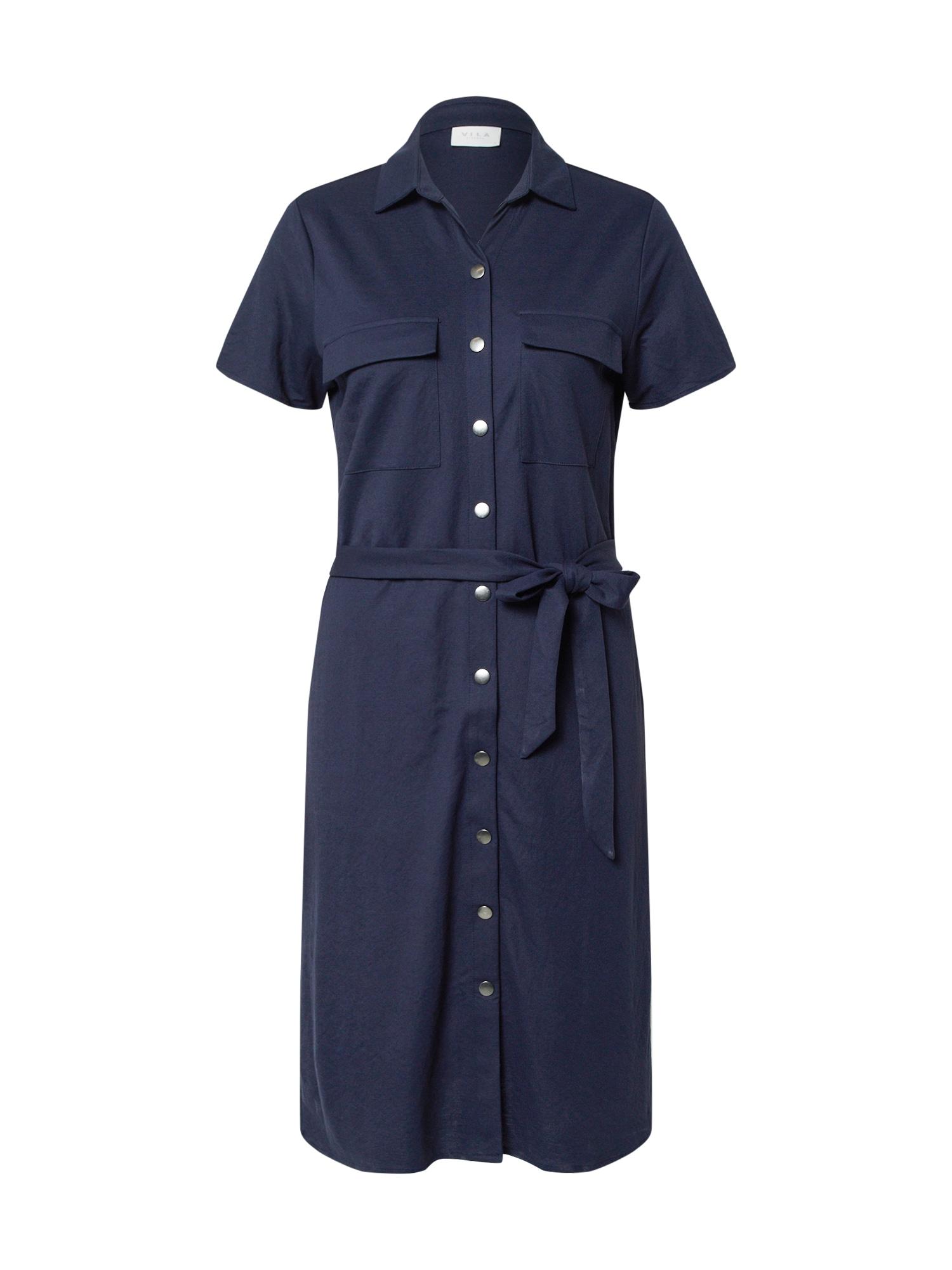 VILA Košilové šaty 'SAFINA'  námořnická modř