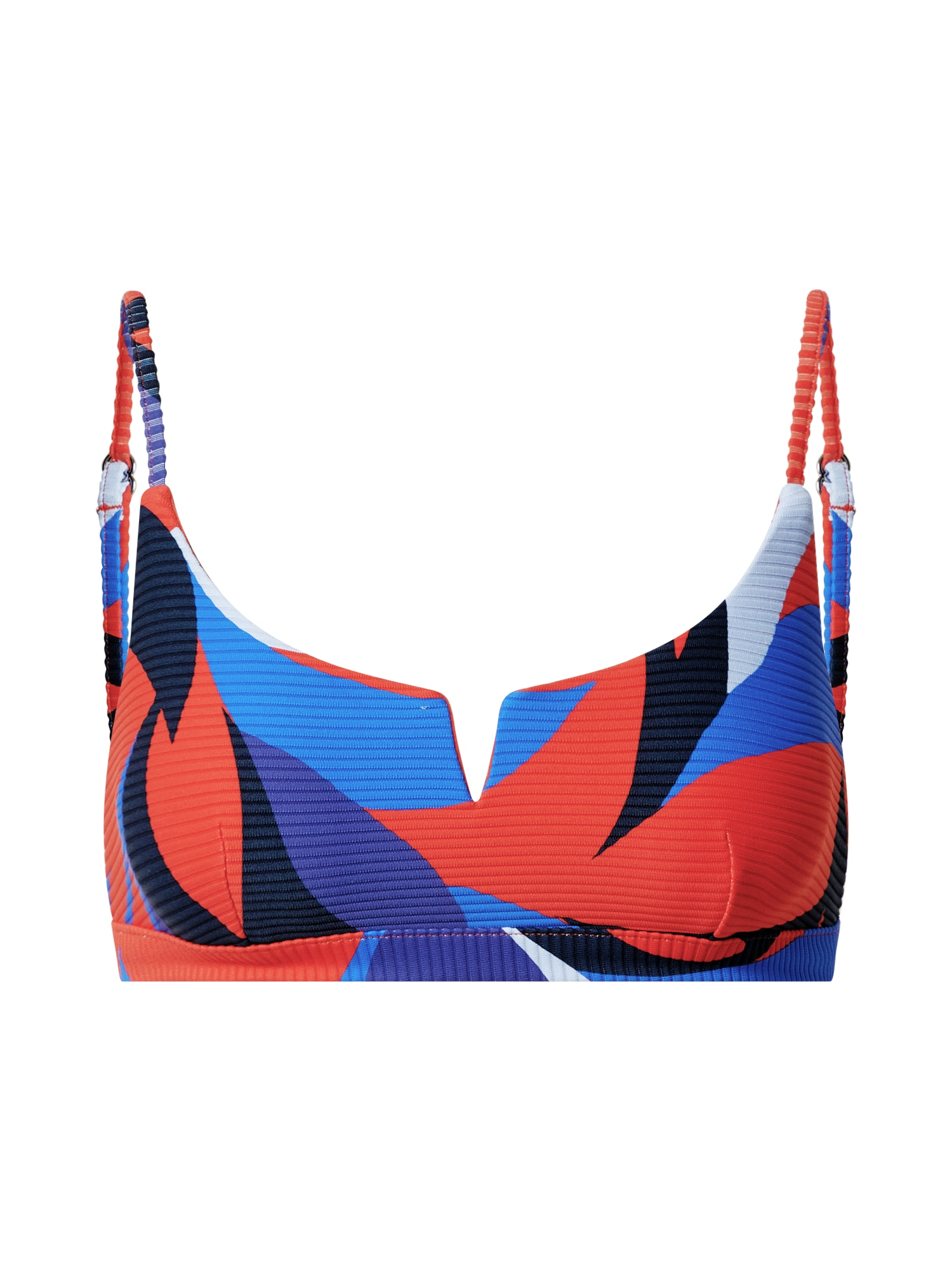 Seafolly Bikinio viršutinė dalis šviesiai mėlyna / tamsiai mėlyna / tamsiai mėlyna / raudona / balta