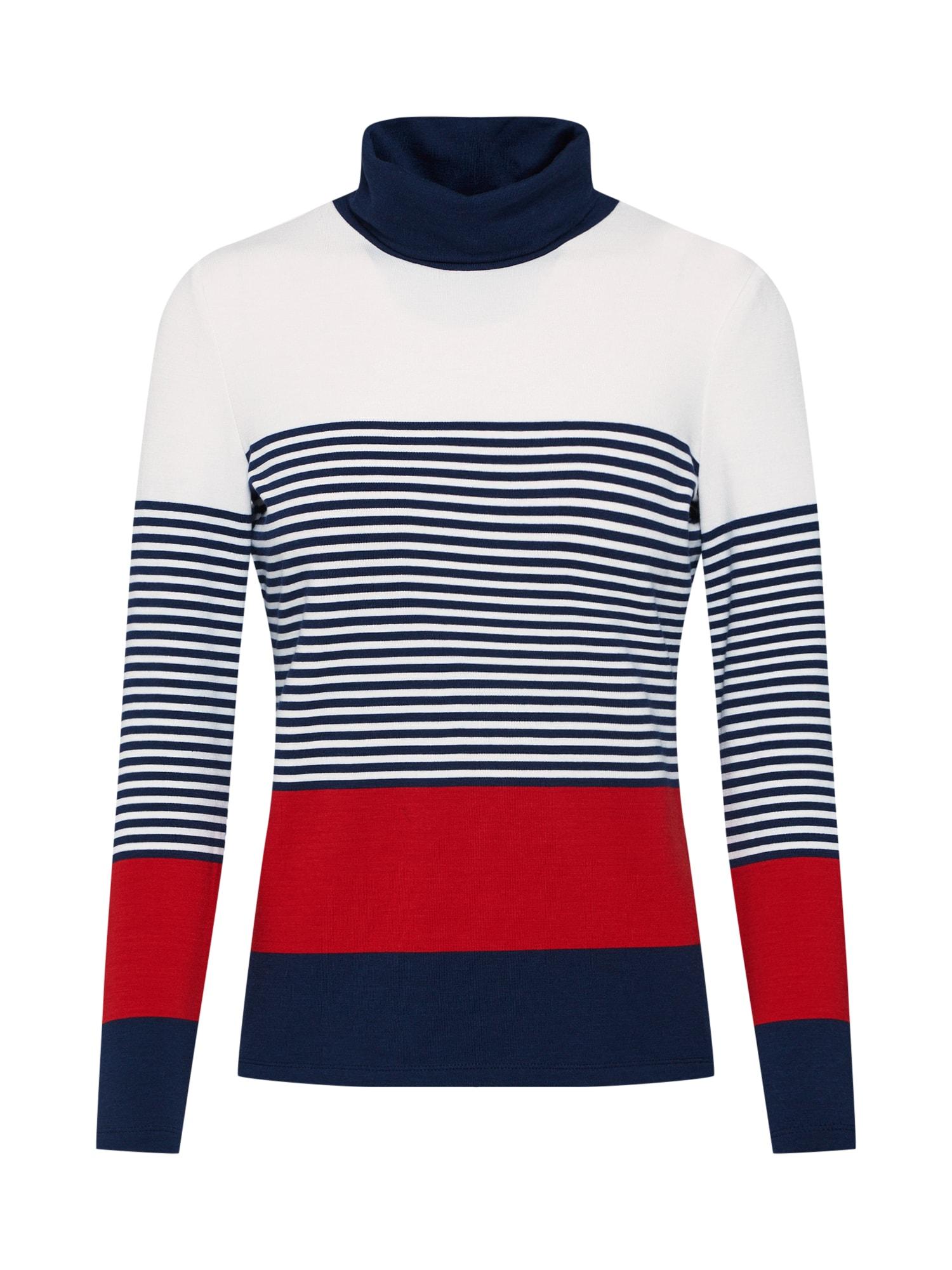 Tričko krémová námořnická modř červená ESPRIT