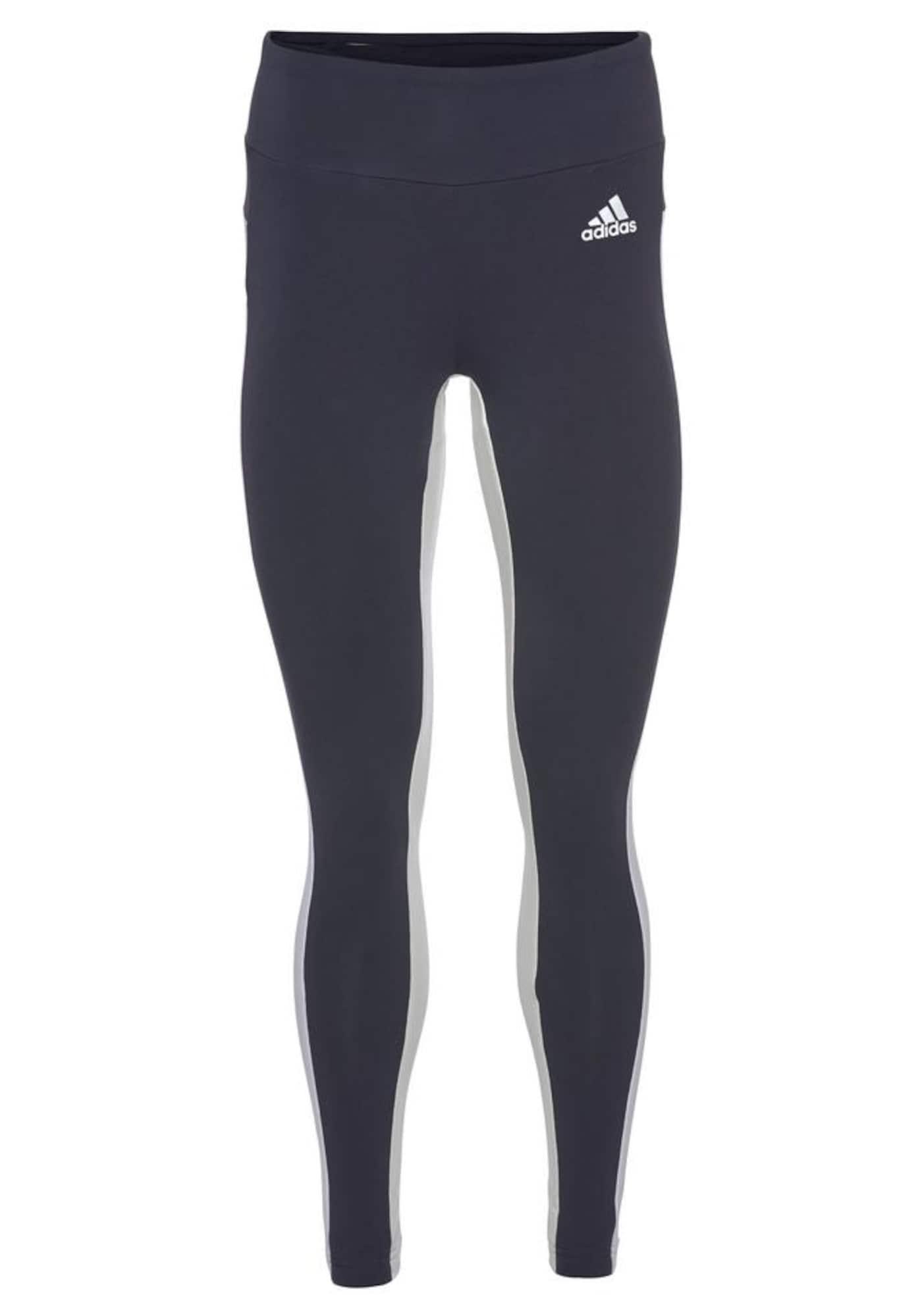ADIDAS PERFORMANCE Sportinės kelnės tamsiai mėlyna jūros spalva / balta