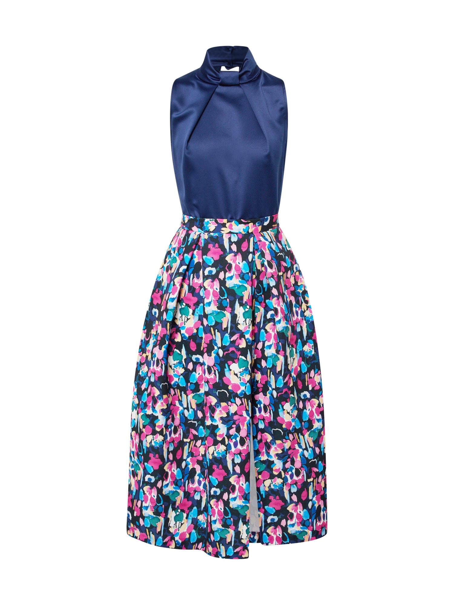 Closet London Kokteilinė suknelė tamsiai mėlyna / mišrios spalvos
