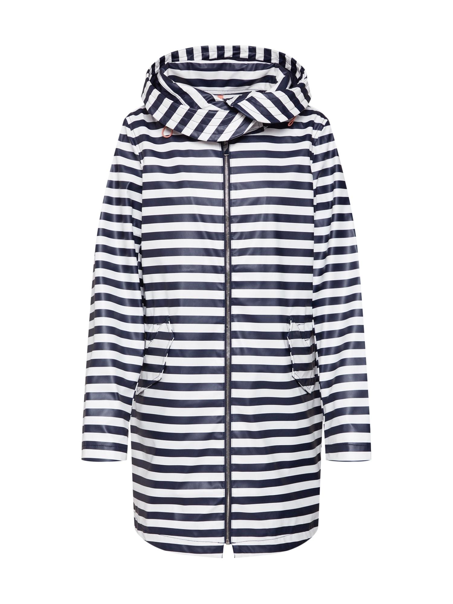 Přechodný kabát tmavě modrá bílá STREET ONE