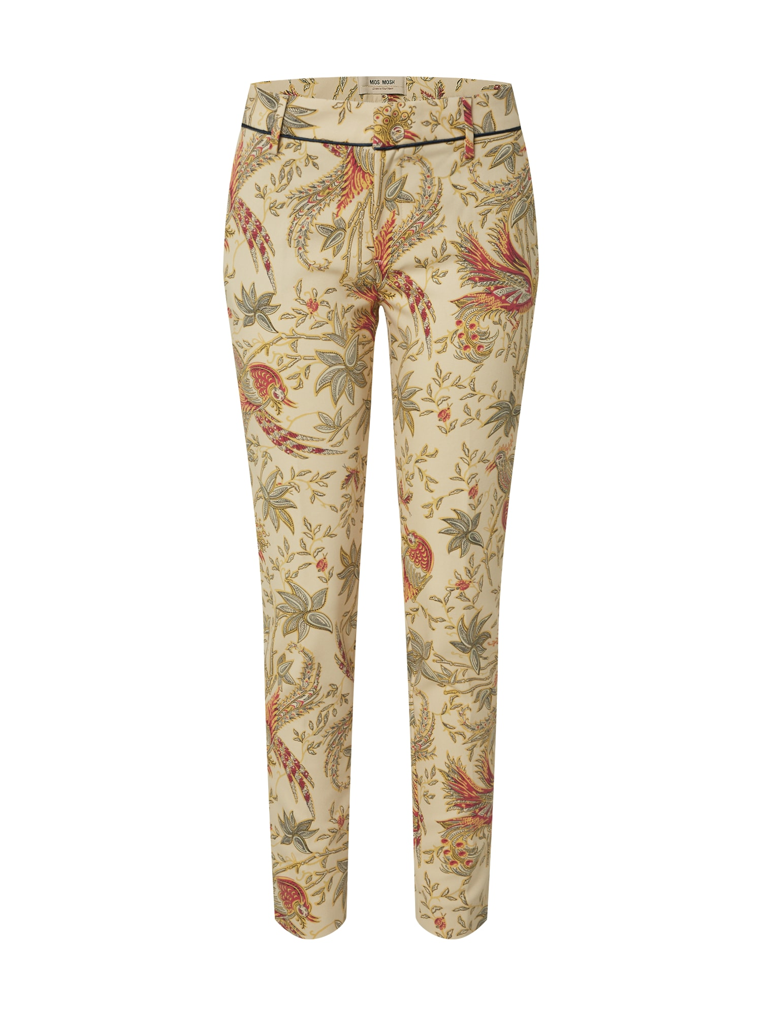 MOS MOSH Klostuotos kelnės 'Abbey Eden' mišrios spalvos / nebalintos drobės spalva