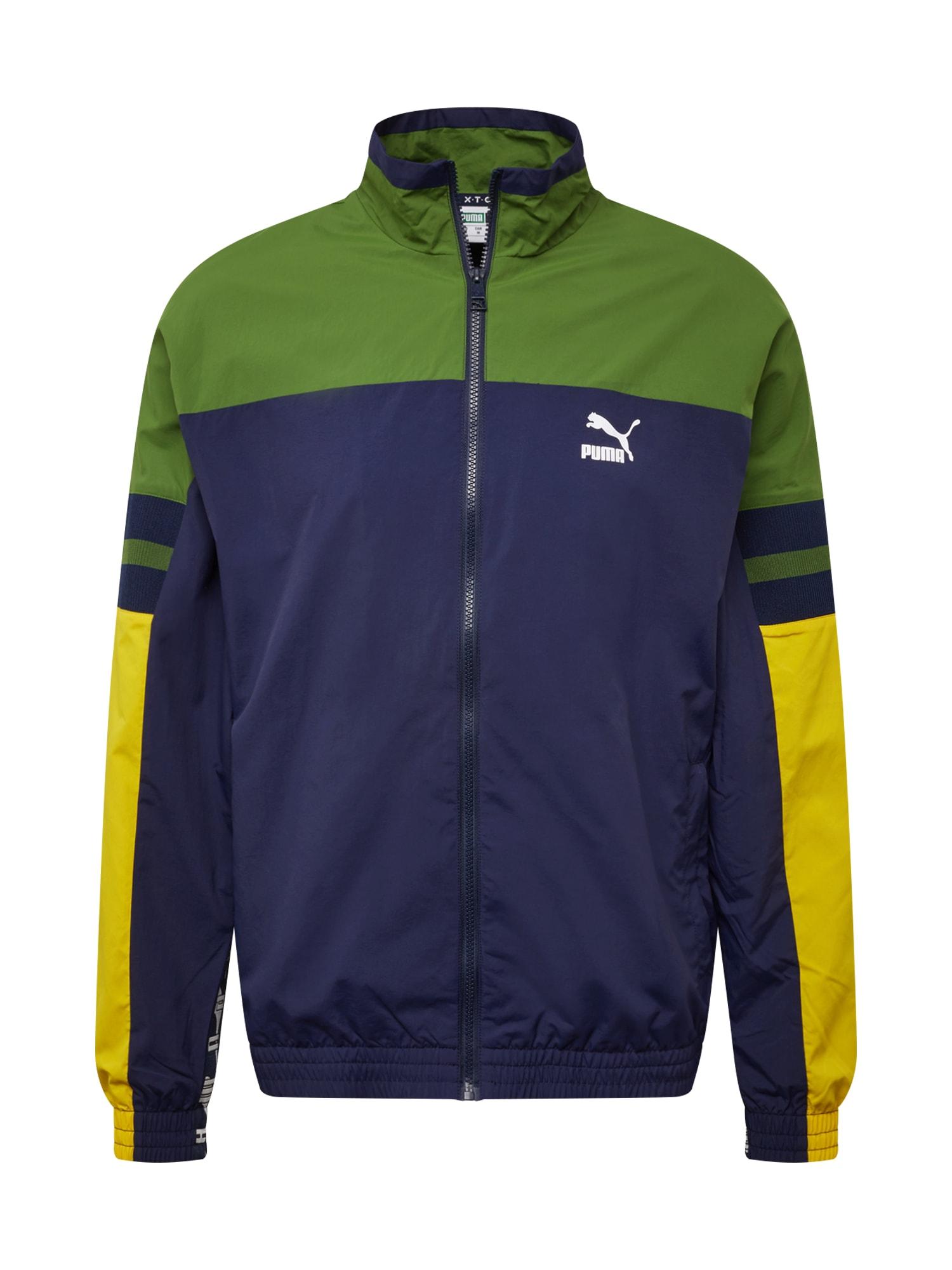 Sportovní bunda XTG tmavě modrá žlutá zelená PUMA