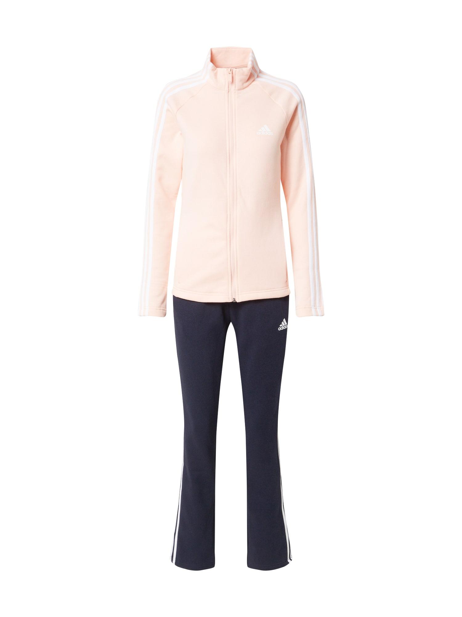 ADIDAS PERFORMANCE Sportinis kostiumas šviesiai rožinė / juoda / balta