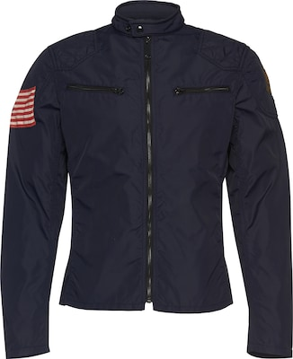 DENIM & SUPPLY Ralph Lauren Jacke mit Flaggen-Print 'Motorcycle-Unlined-Jacket'