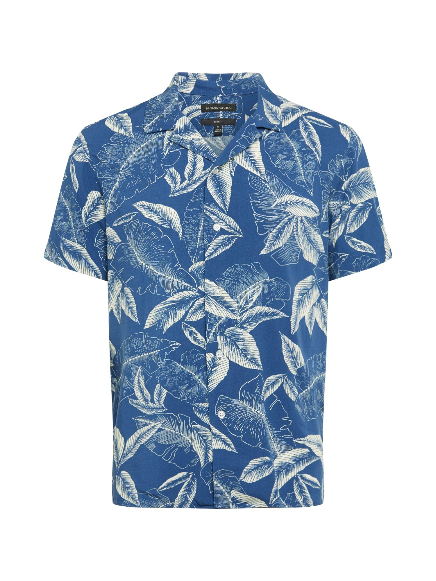 Banana Republic Dalykiniai marškiniai 'RAYON CAMP' mėlyna / smėlio