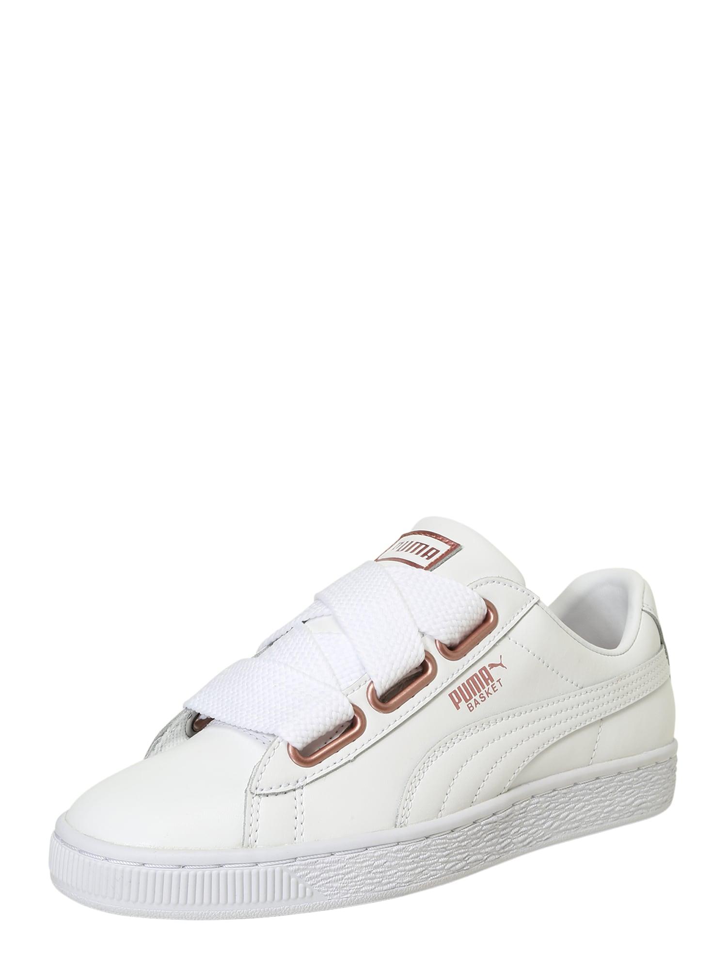 Tenisky Basket Heart růžově zlatá bílá PUMA