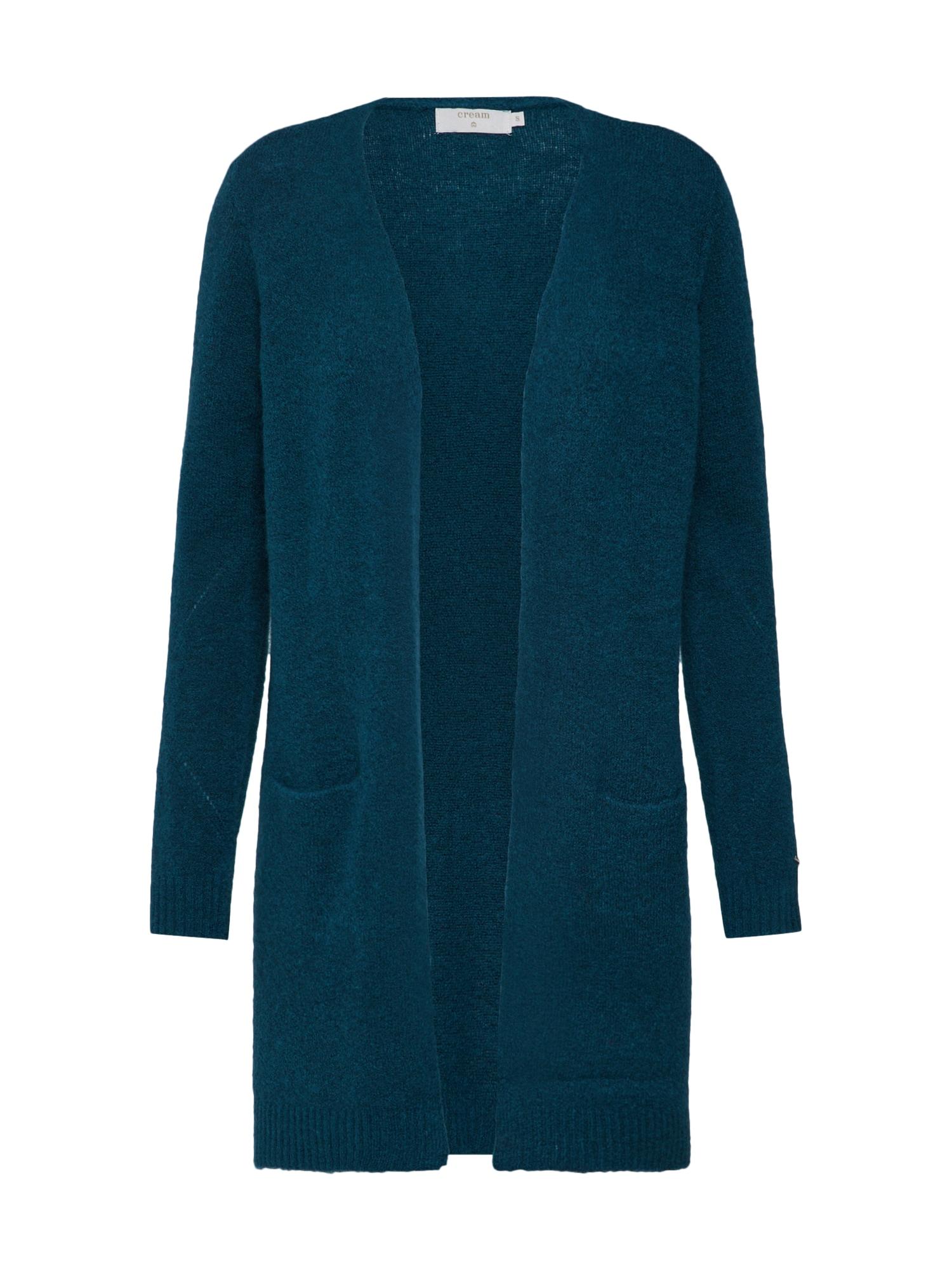 Pletený kabátek Kaitlyn Long Cardigan tyrkysová Cream