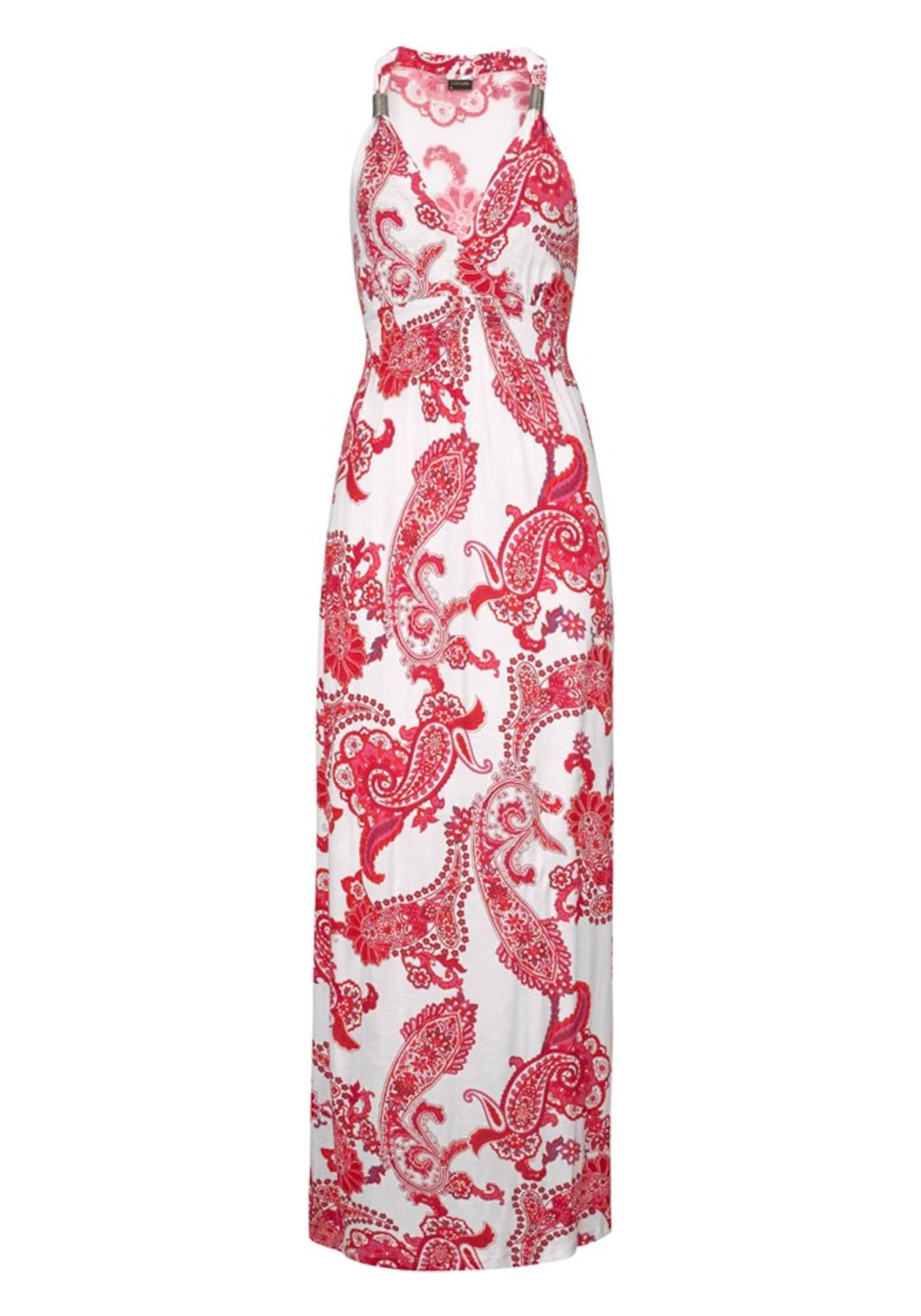 Letní šaty červená bílá LASCANA