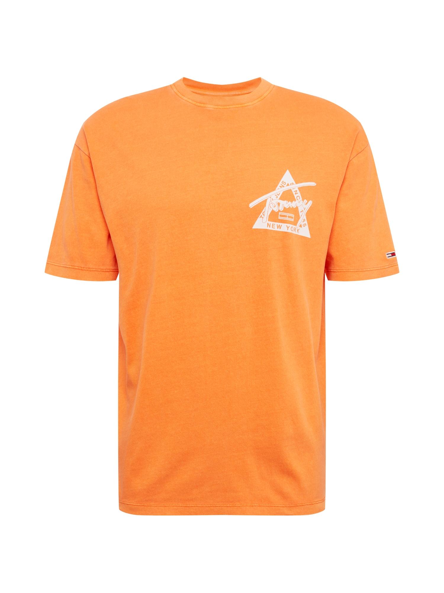 Tričko WASHED GRAPHIC oranžová bílá Tommy Jeans