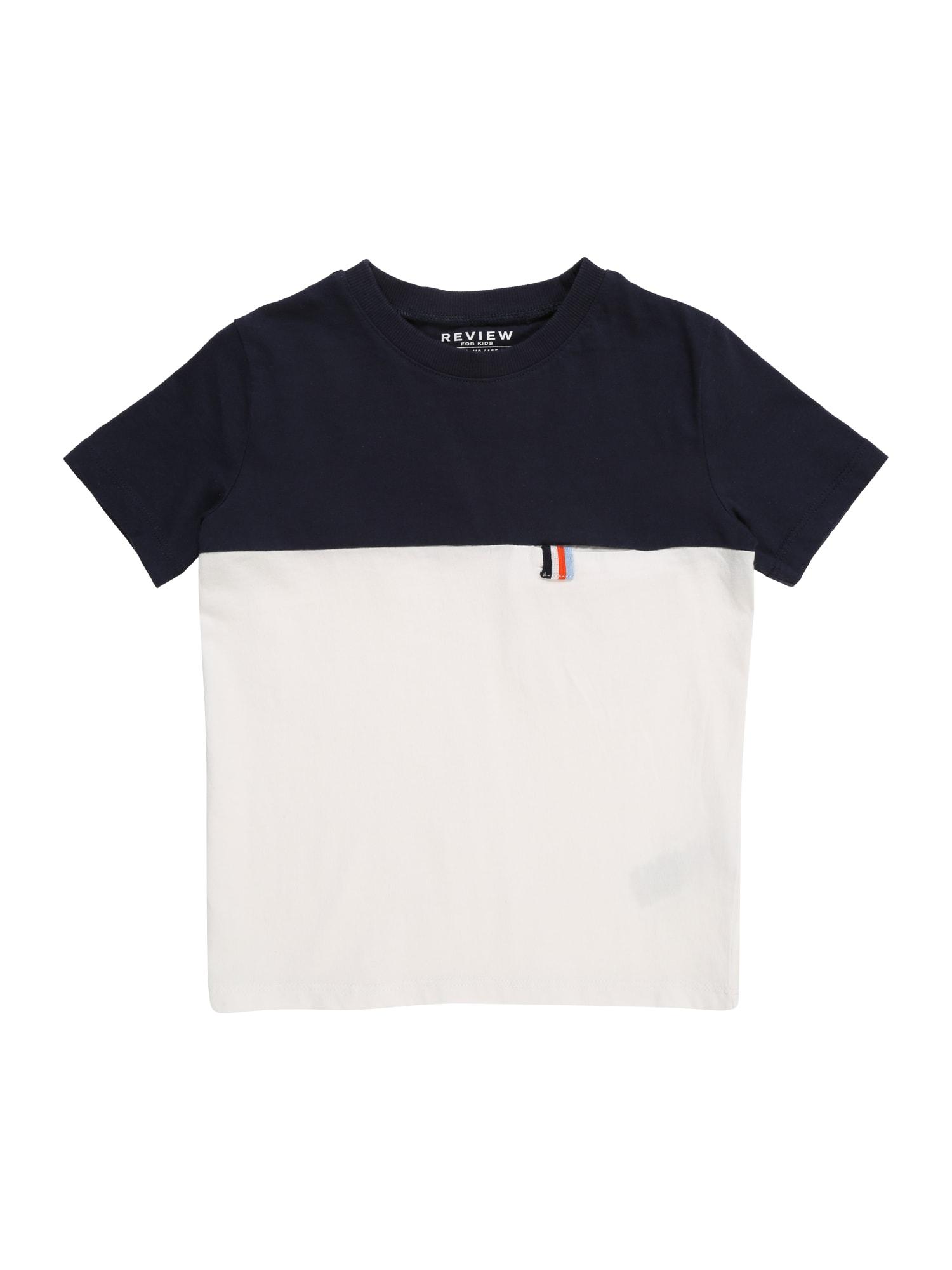 Tričko KB-19-T211 námořnická modř bílá REVIEW FOR KIDS